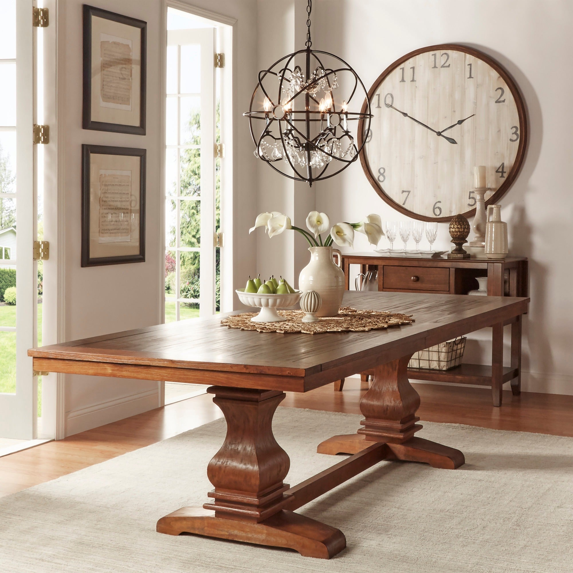 Merveilleux Shop Atelier Burnished Brown Pedestal Extending Dining Table By INSPIRE Q  Classic   Free Shipping Today   Overstock.com   8594615