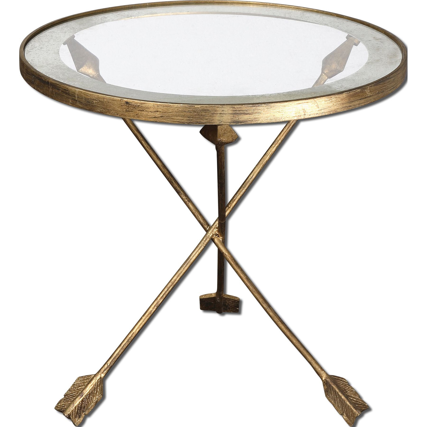 Beau Shop Uttermost Aero Glass Top Accent Table   Free Shipping Today    Overstock.com   8594740