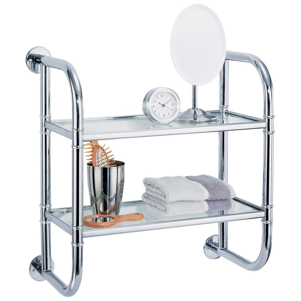 Shop Wall Mounting Chrome Finish 2-tier Bath Shelf - Free Shipping ...