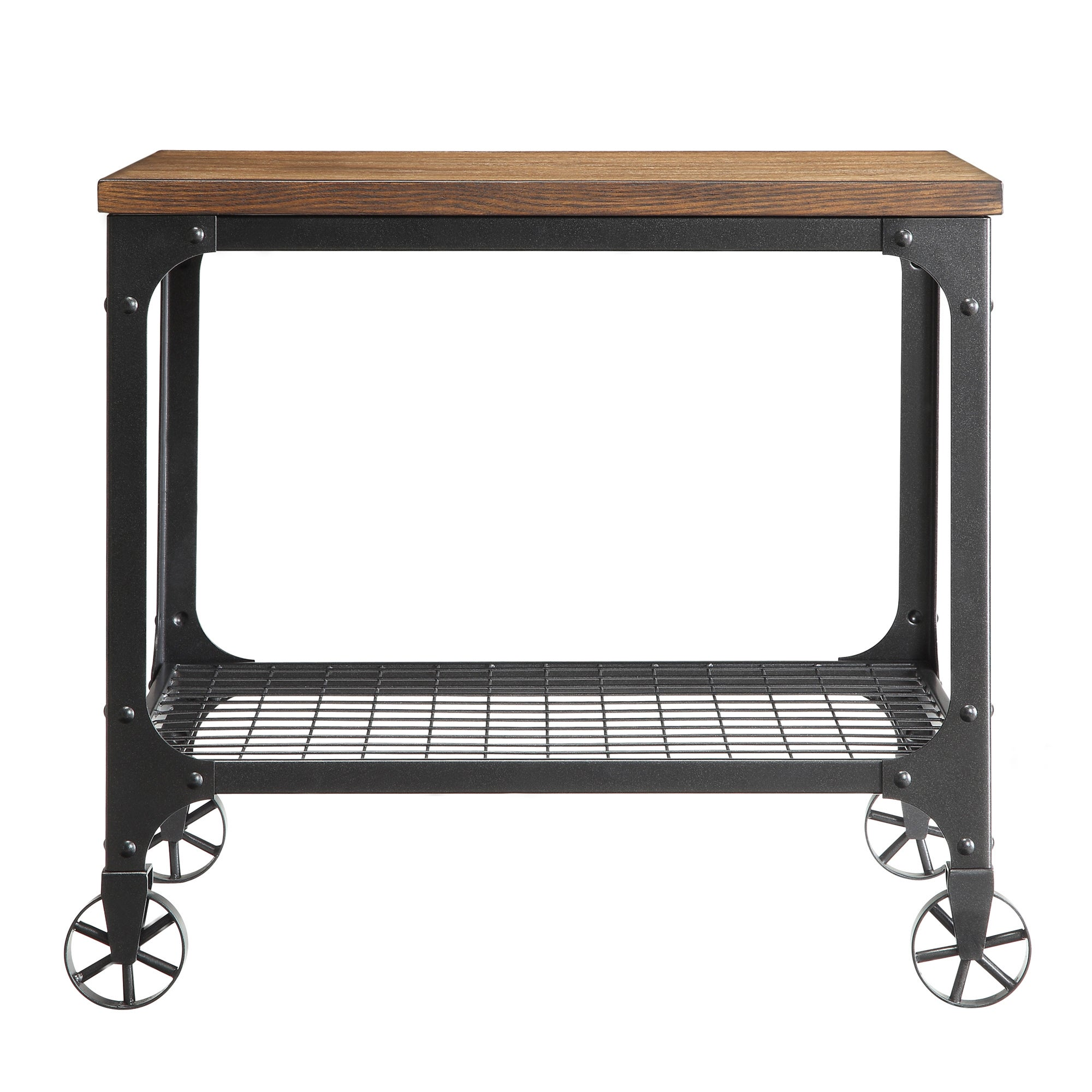 Nelson Rectangle Industrial Modern Rustic End Table by iNSPIRE Q Classic -  Free Shipping Today - Overstock.com - 15867322