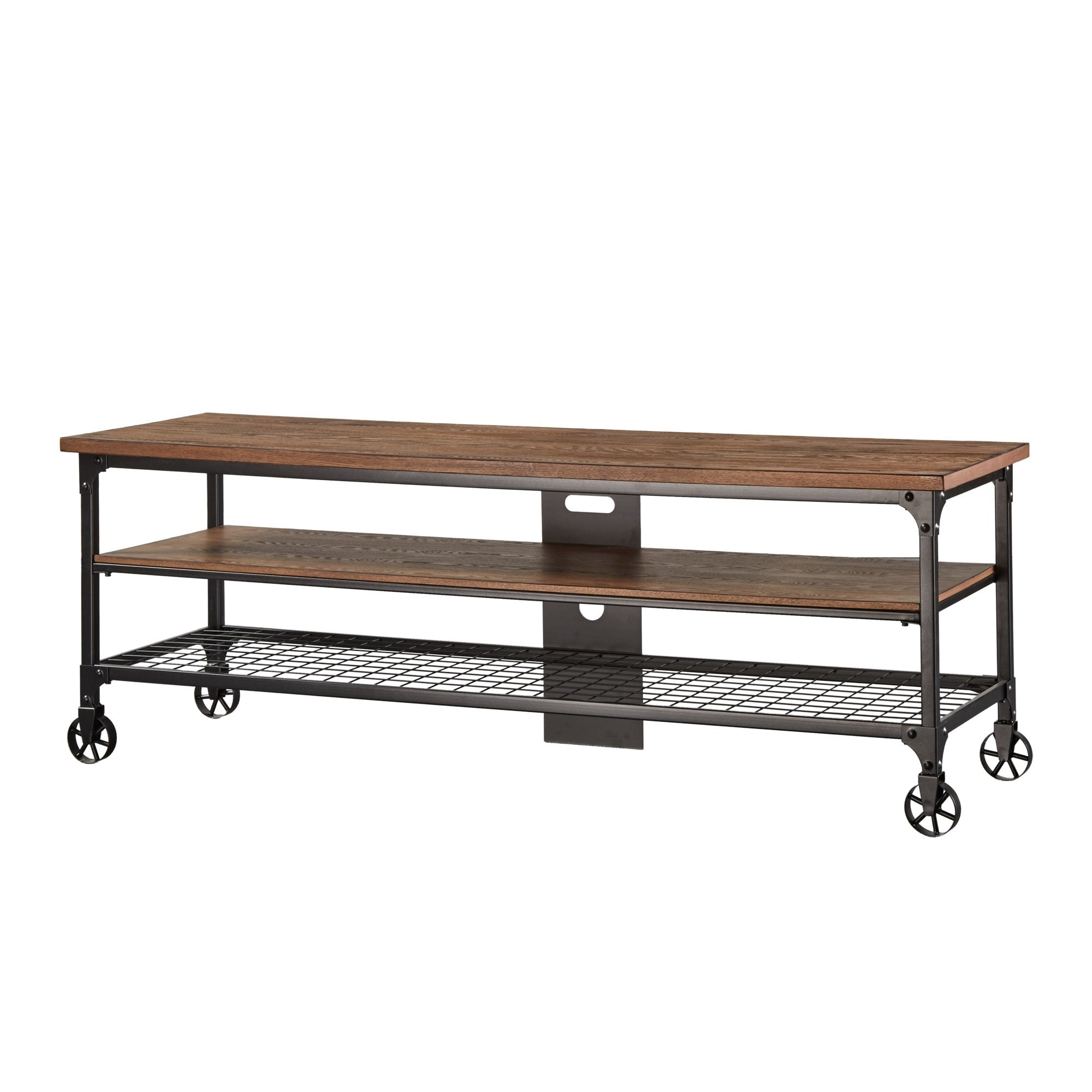 Nelson Industrial Modern Rustic Console Sofa Table TV Stand By INSPIRE Q  Classic   Free Shipping Today   Overstock.com   15867330