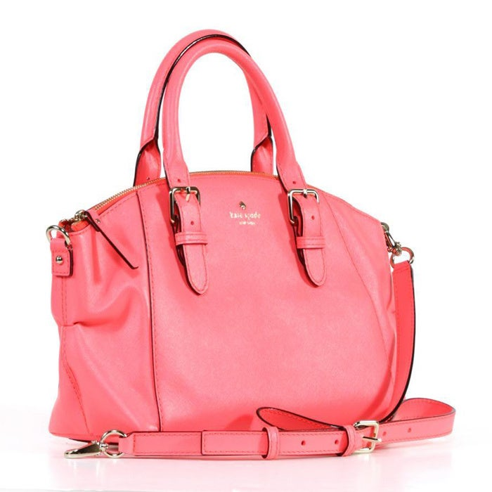 029239d725 Shop Kate Spade 'Charlotte Street' Small Coral Leather Sloan Tote - Free  Shipping Today - Overstock - 8597367