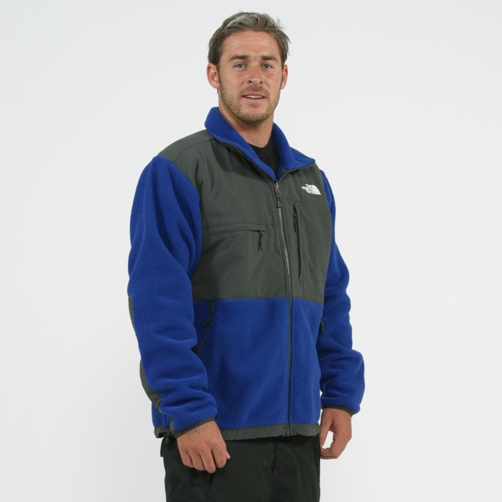 be851553276f Shop The North Face Men s  Denali  Bolt Blue  Grey Jacket - Free Shipping  Today - Overstock - 8597421