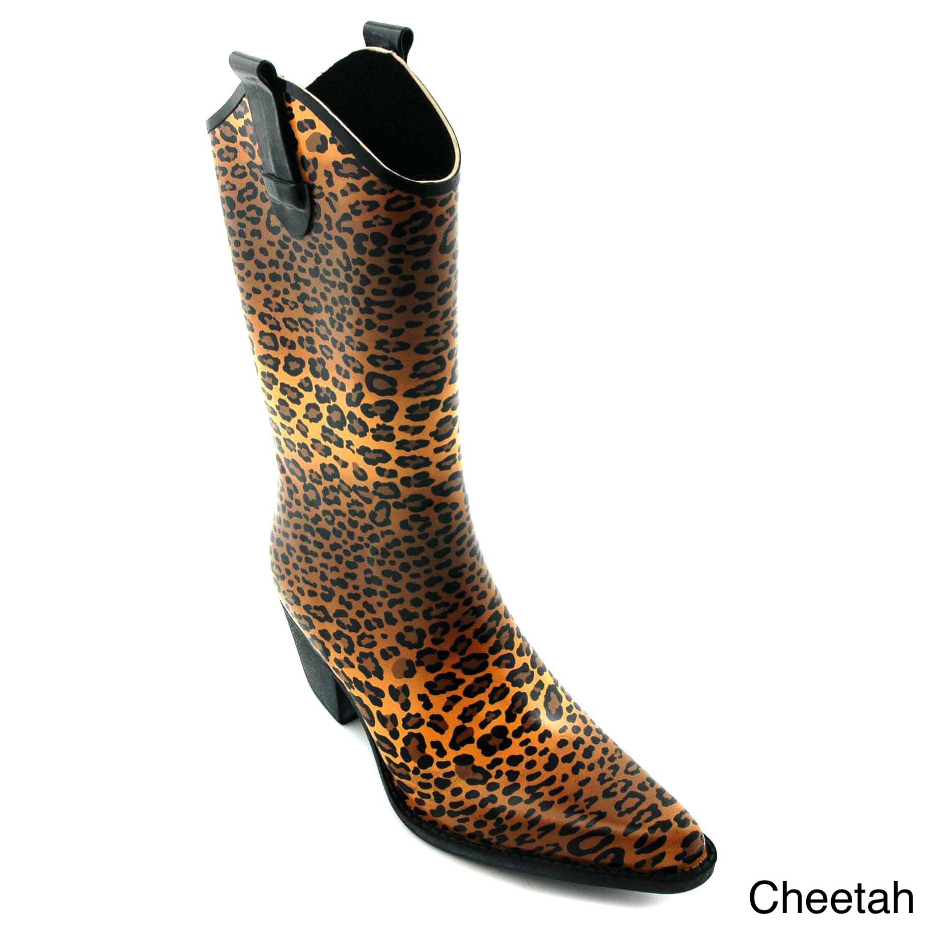 d5560fbe3e1 Corkys Women's 'Rodeo' Printed Western Rain Boots