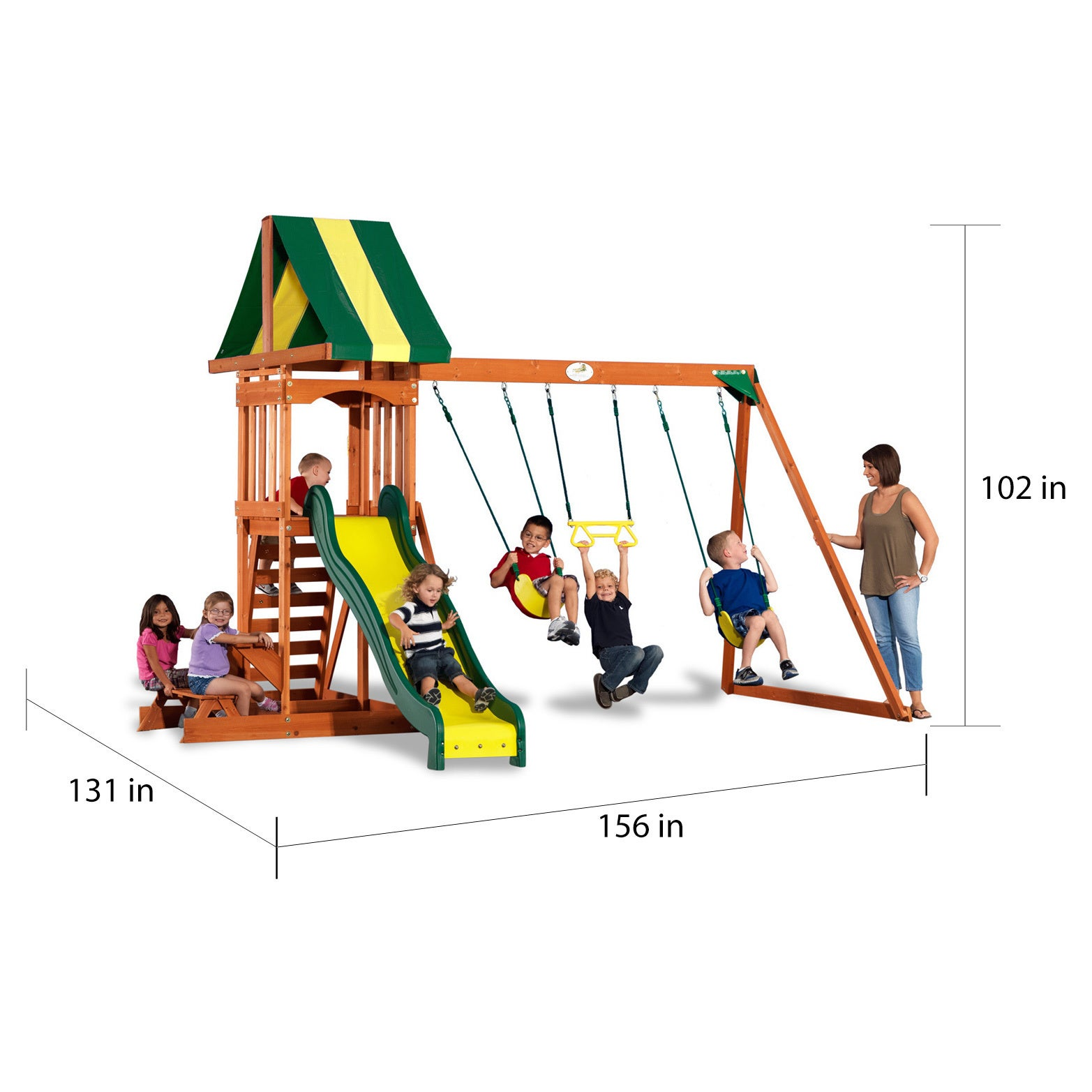 Shop Backyard Discovery Prestige Wooden Swingset Free Shipping