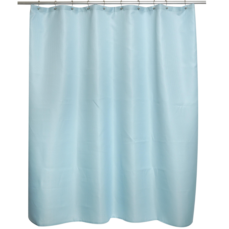 Shop Soho Waffle Spa Blue Shower Curtain - Free Shipping On Orders ...