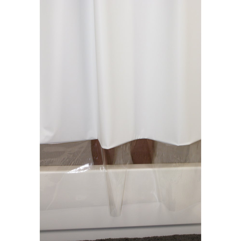 SneakPeek Solid Color w/ Clear Vinyl Shower Curtain - Free ...