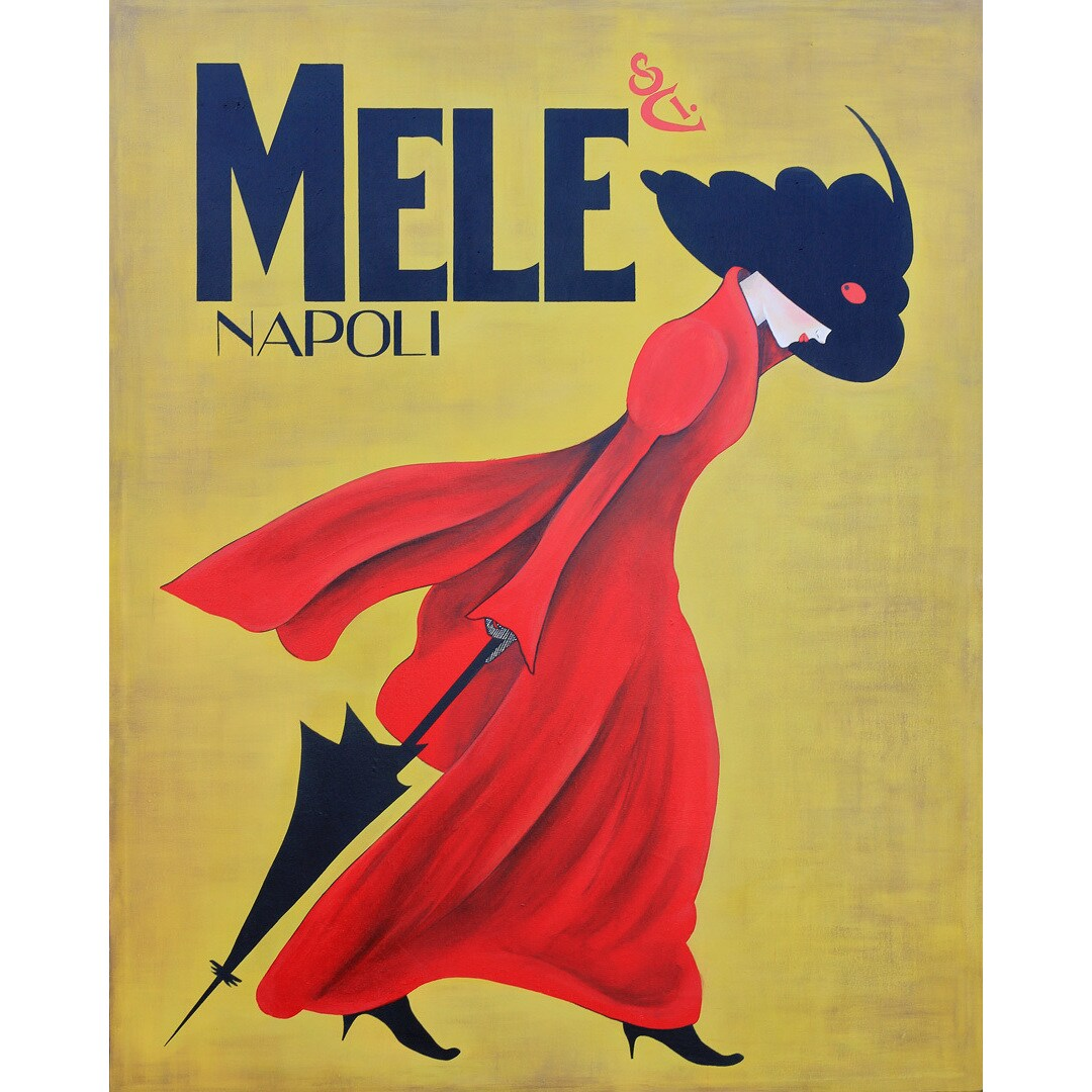 Shop Art in Style Lady in the Red Coat Giclee on Canvas Wall Art ...