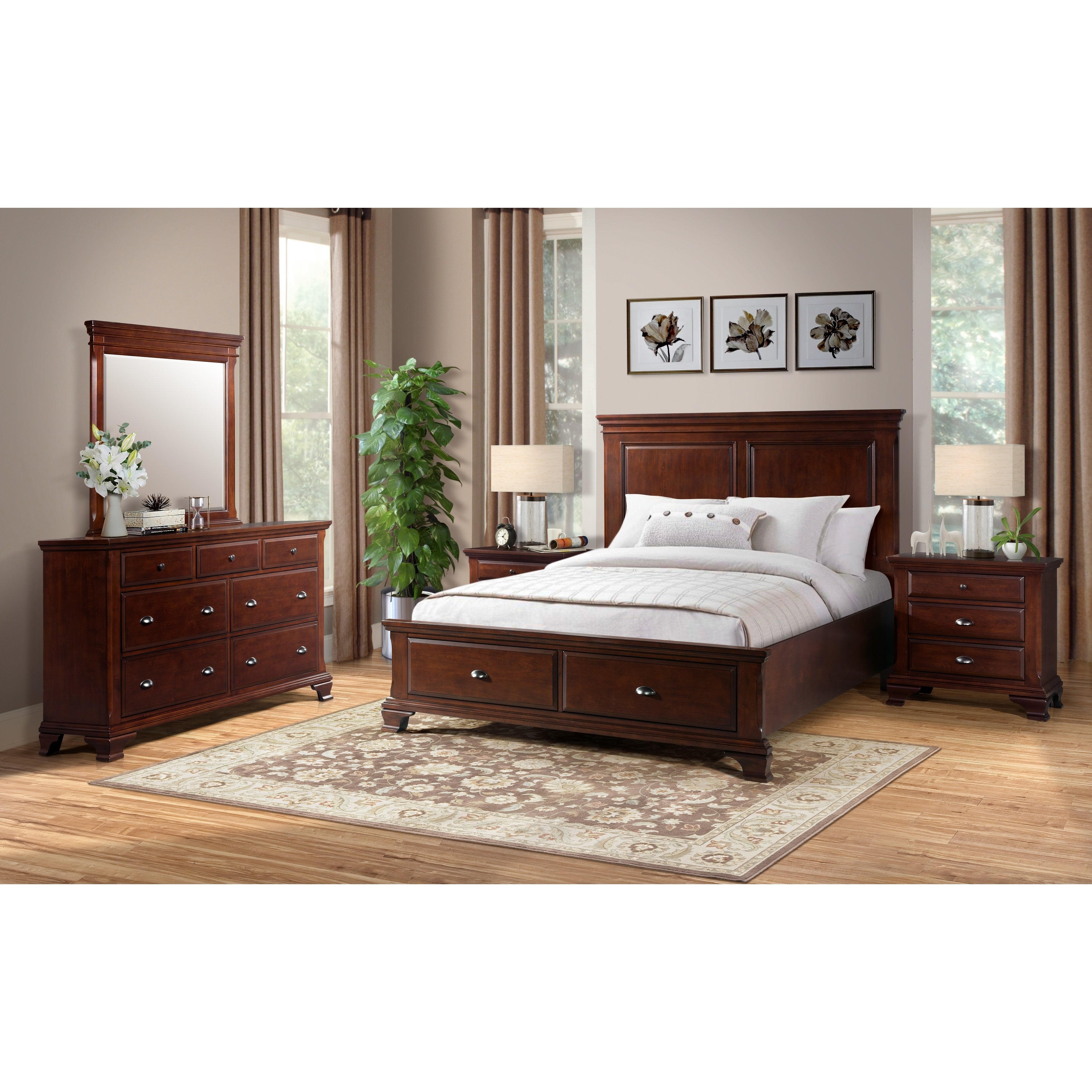 Shop Picket House Furnishings Brinley Cherry Storage 5-Piece Bedroom ...
