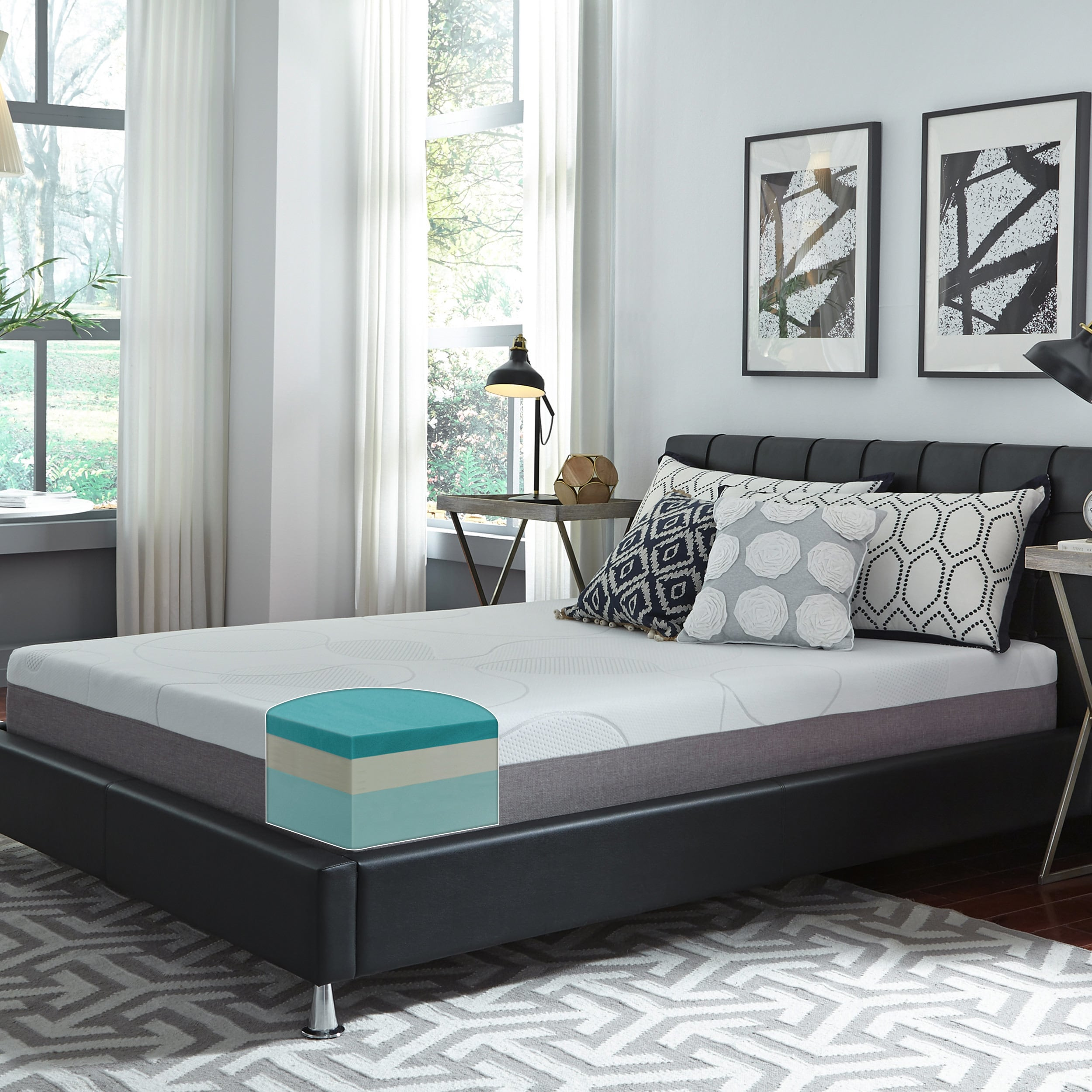 beds sleep base upholstered with number custom prices online recessed paris ii mattresses bedworks bed ensemble