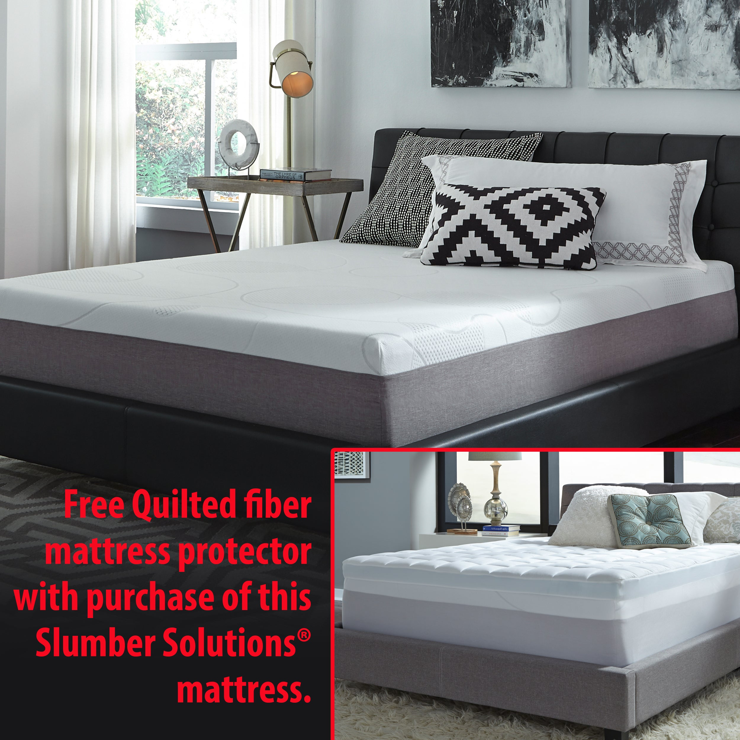 slumber mattress in a box. Slumber Solutions Choose Your Comfort 12-inch Full-size Gel Memory Foam Mattress + Bonus Pad - Free Shipping Today Overstock 15869716 In A Box R
