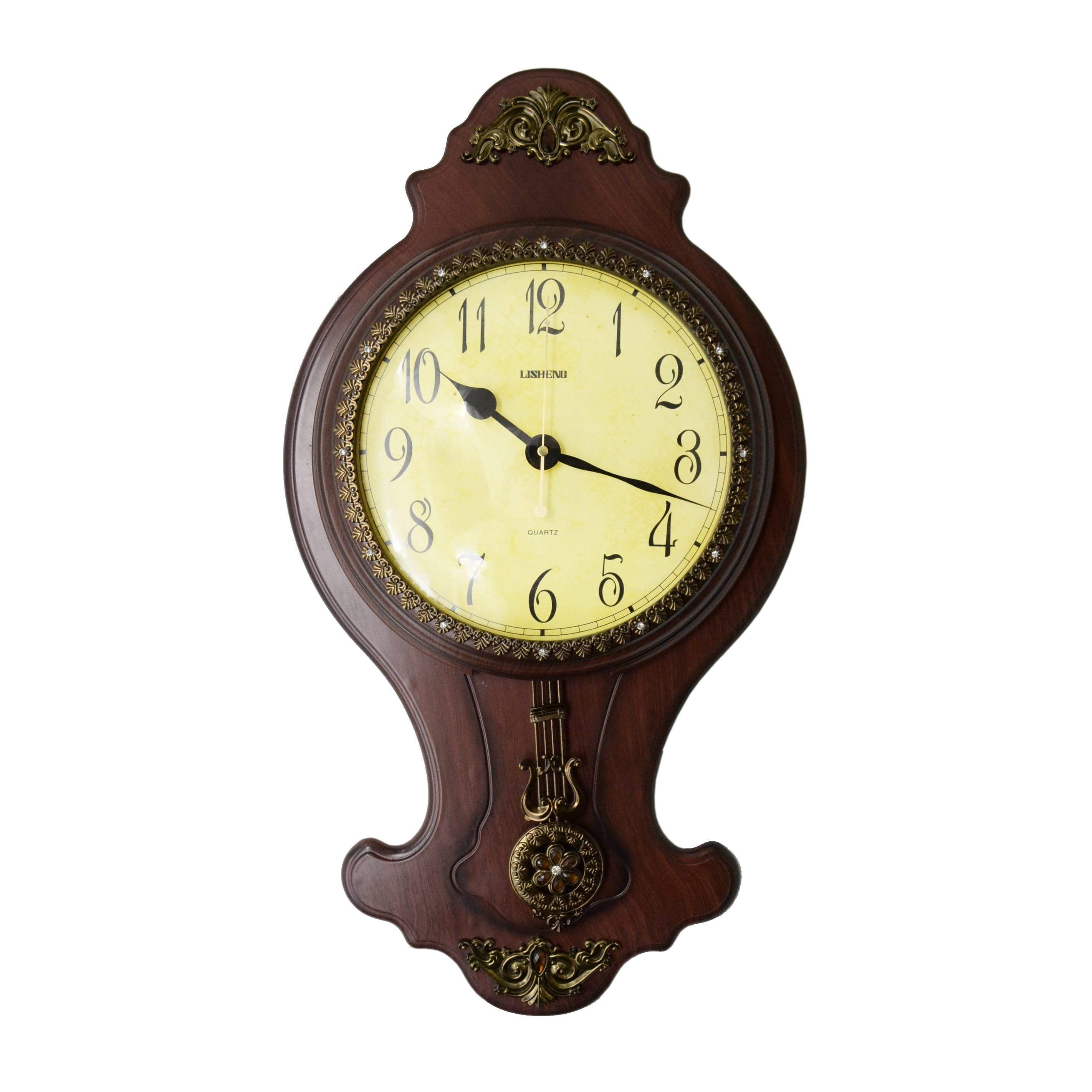 Shop Classic Wall Clock with Swinging Pendulum - Free Shipping Today ...