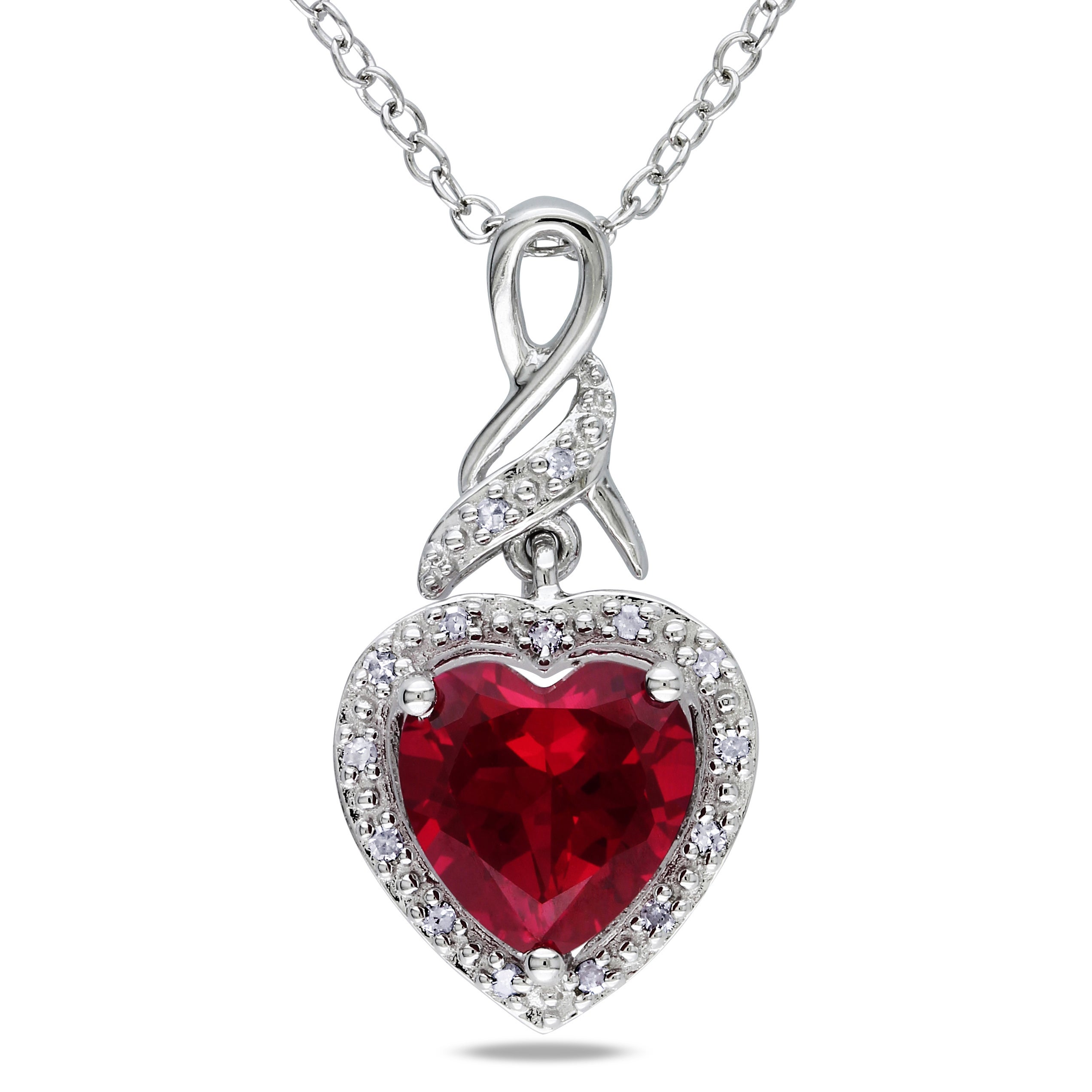 heart with valentines w silver s necklace valentine sterling crystal day in society red product