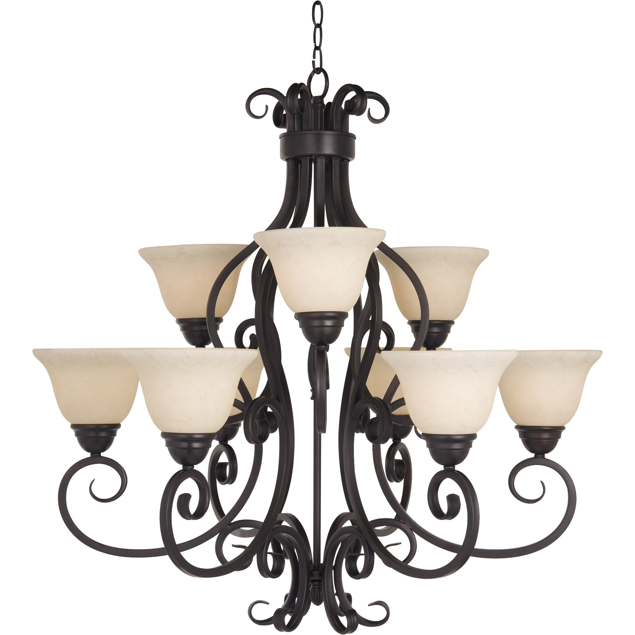 Maxim Manor 9 light Oil Rubbed Bronze Chandelier Free Shipping