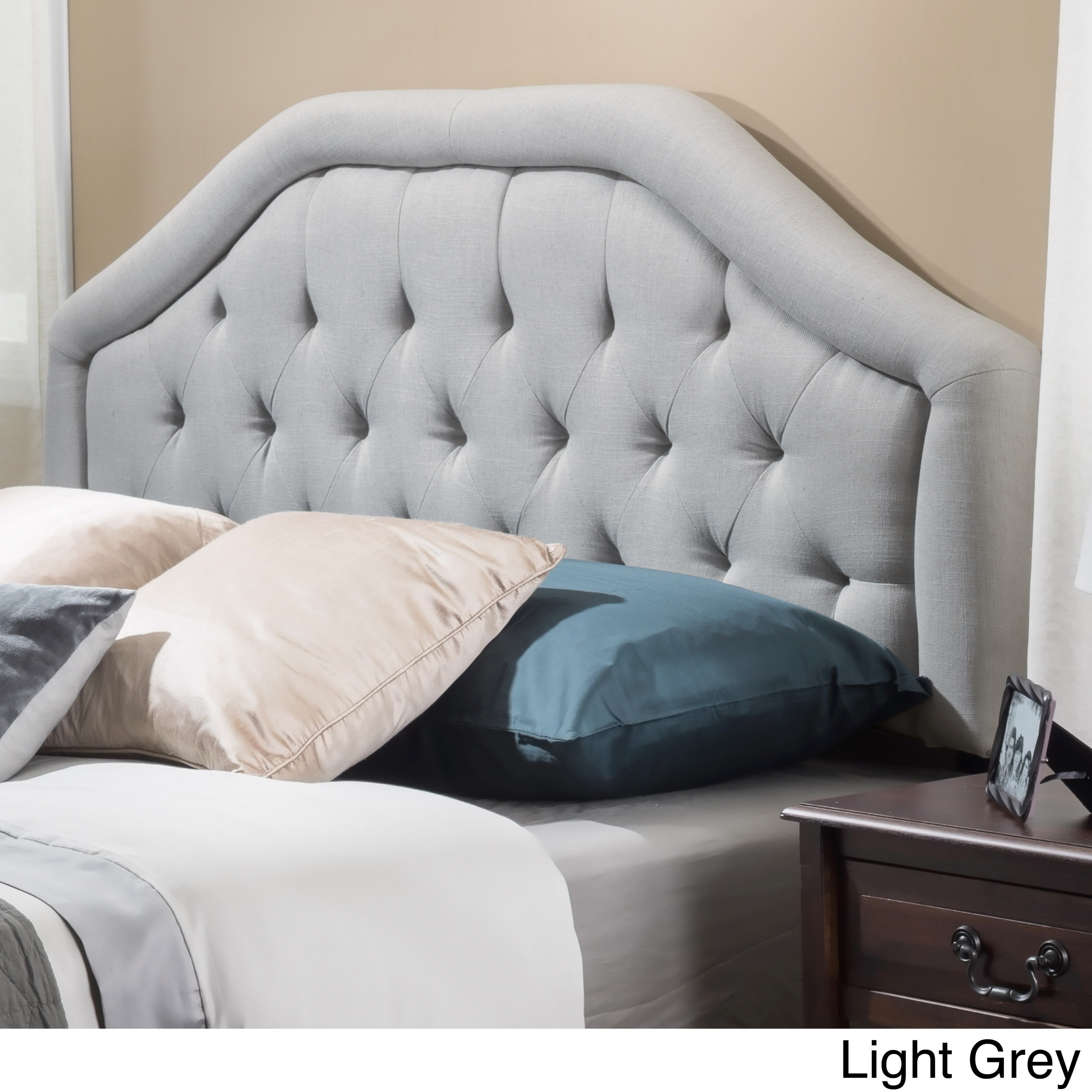 headboard queen fabric christopher product by today overstock home free full adjustable grey studded shipping back knight kendrah garden wing