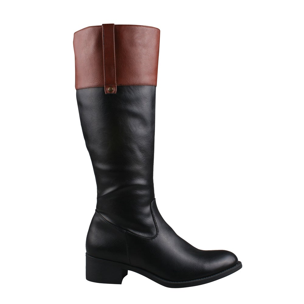 df4762915cc Refresh Women's 'Alto-03' Side Zip Comfort Riding Boots