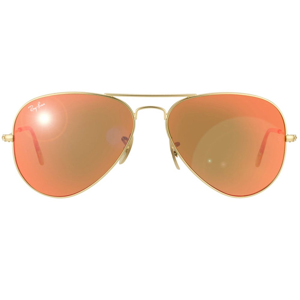 6ccbe0b4f47 Shop Ray-Ban Aviator RB3025 Unisex Gold Frame Orange Flash Lens Sunglasses  - Free Shipping Today - Overstock - 8604134