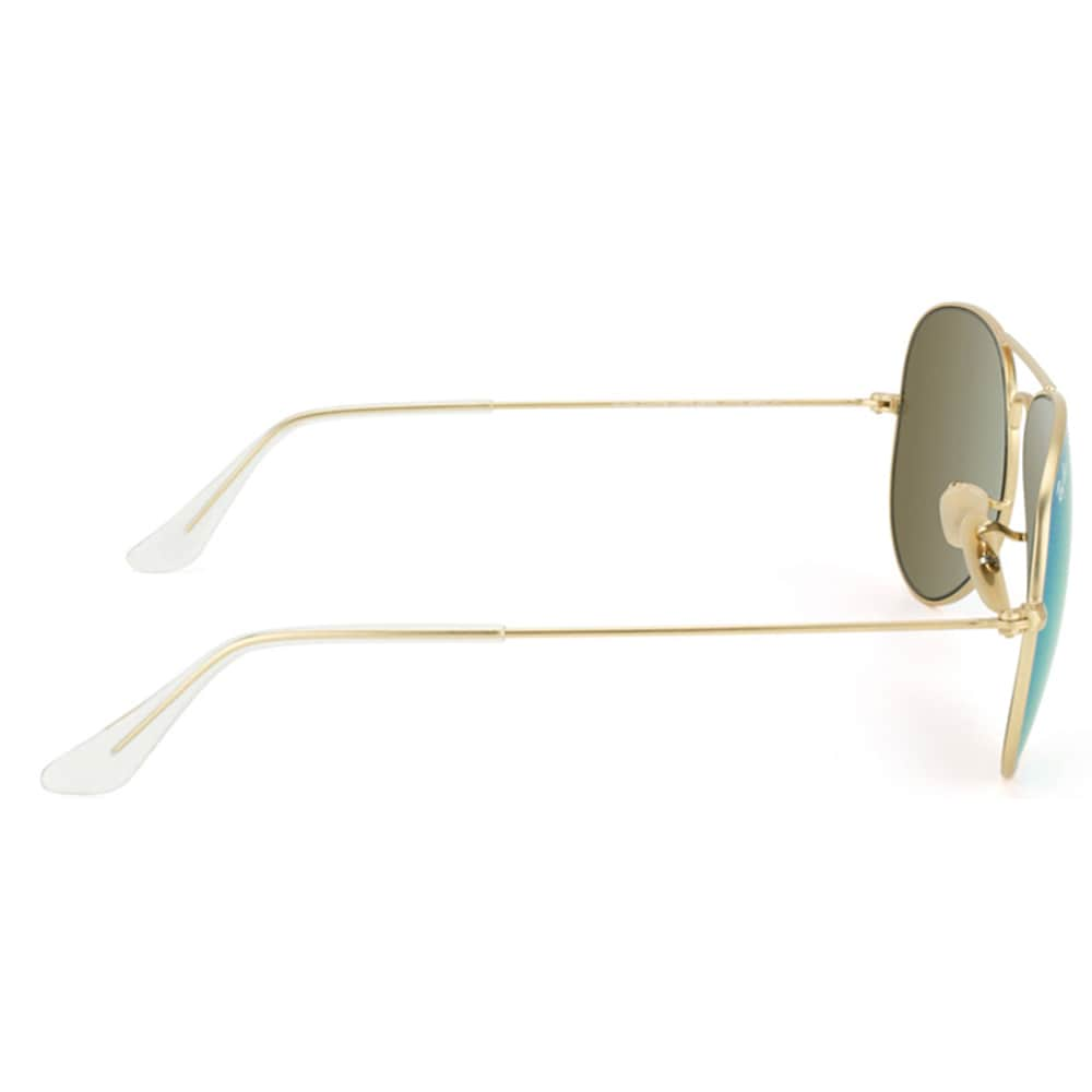 ac0fba90d7 Shop Ray-Ban Aviator RB3025 Unisex Gold Frame Green Flash Lens Sunglasses -  Free Shipping Today - Overstock - 8604136