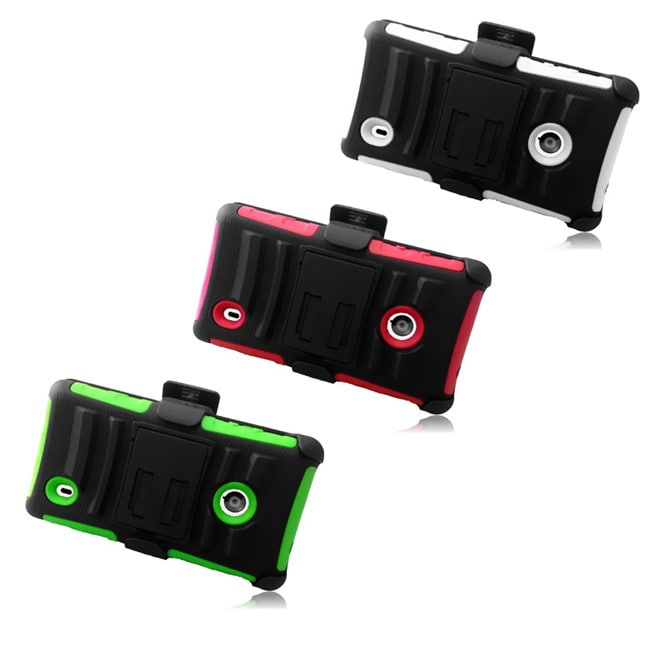 INSTEN Holster Phone Case Cover with Stand for Nokia Lumia 521