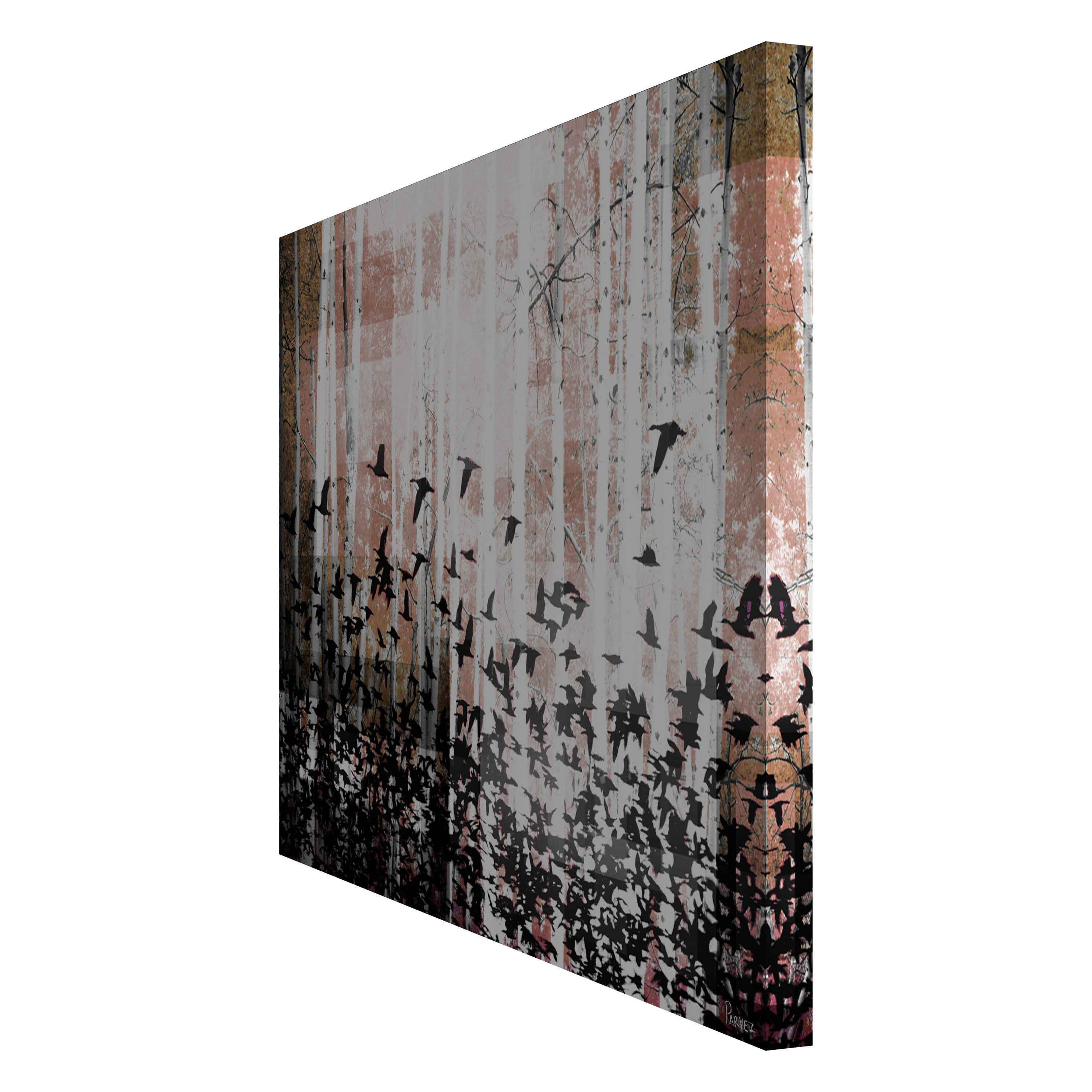 shop parvez taj aspen wood canvas art multi color on sale