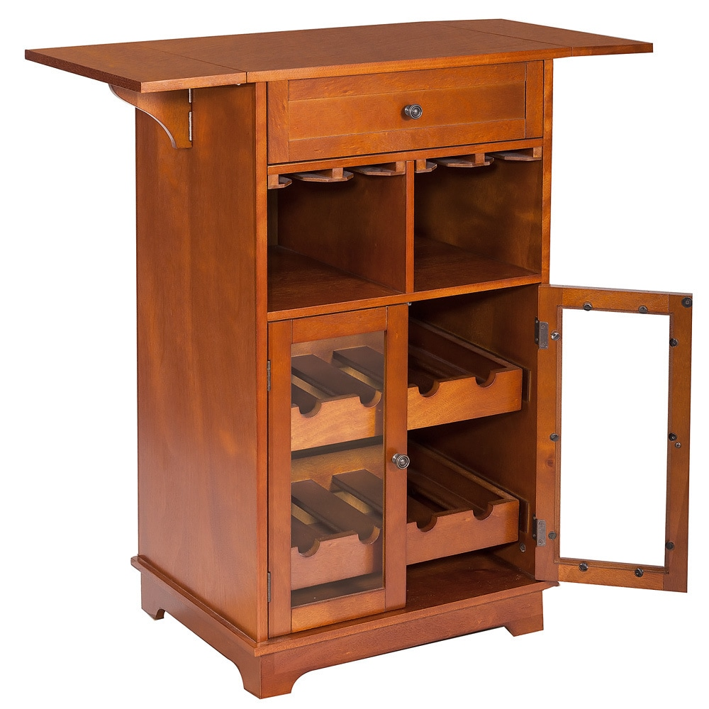 Bordeaux Wine/Glass Cabinet Cart   Free Shipping Today   Overstock.com    15876957