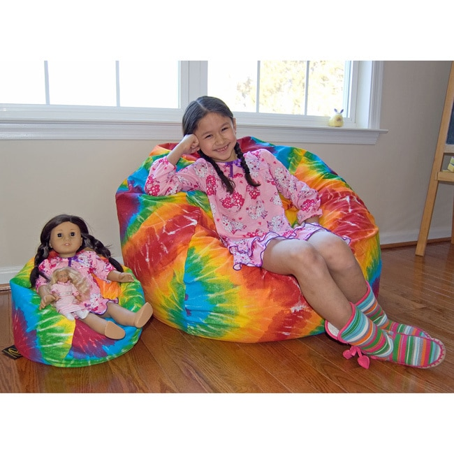 Ahh Products Lil Me Tye Dye 14 Inch Doll Bean Bag Chair Free Shipping On Orders Over 45 8609919