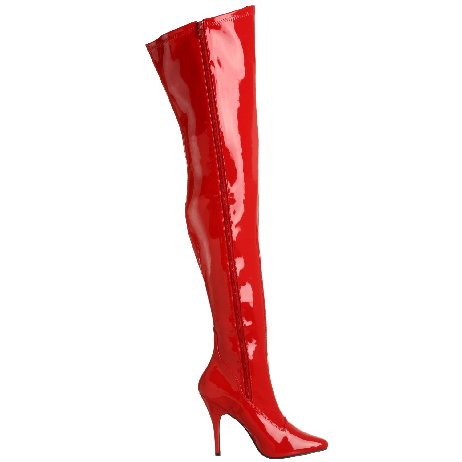 3e505cc6d63 Shop Pleaser Women s SEDUCE-3000 5-inch Stiletto Heel Plain Stretch Thigh  High Boots - Free Shipping Today - Overstock - 8609966