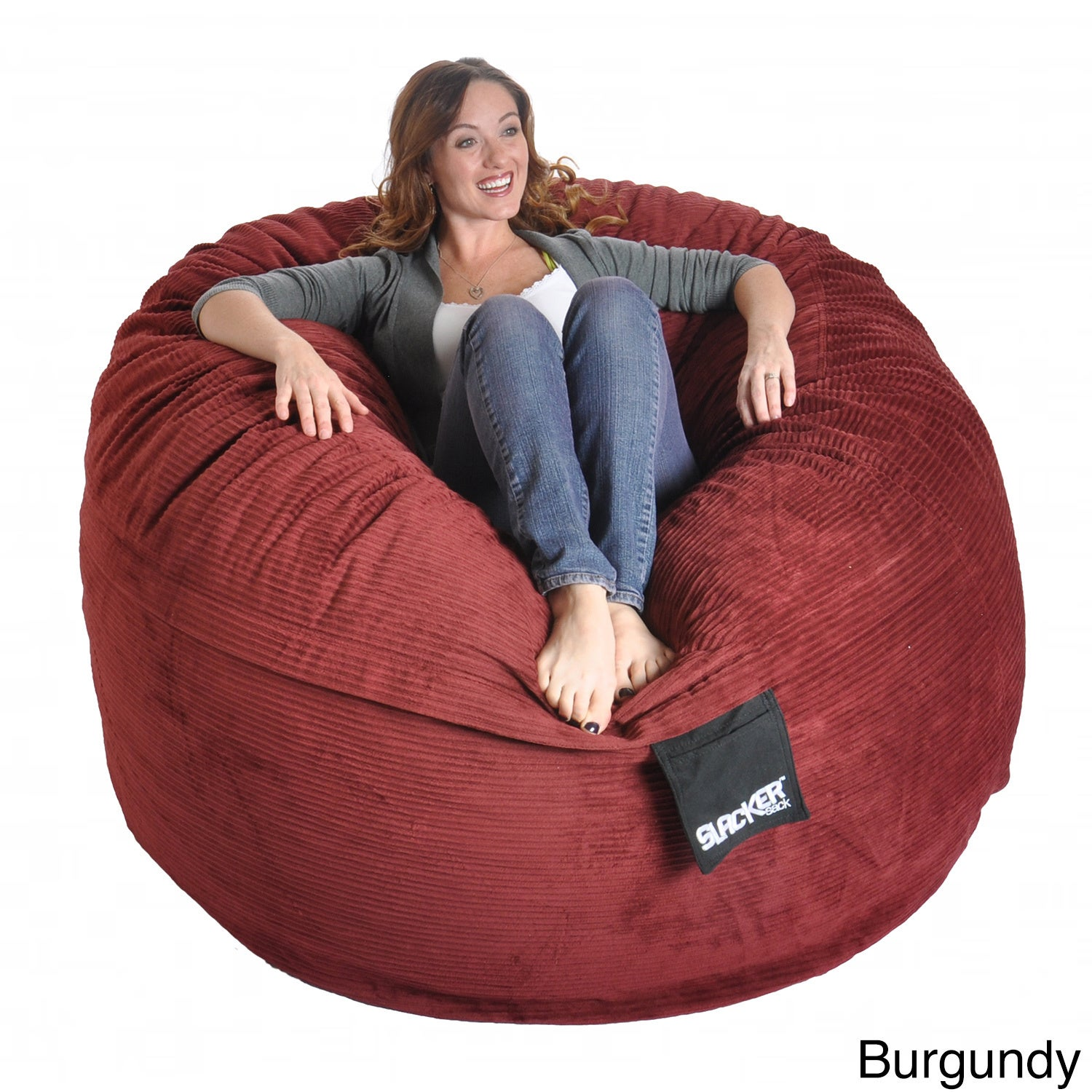 Slacker Sack 5 Foot Round Corduroy Bean Bag Chair   Free Shipping Today    Overstock.com   15877958
