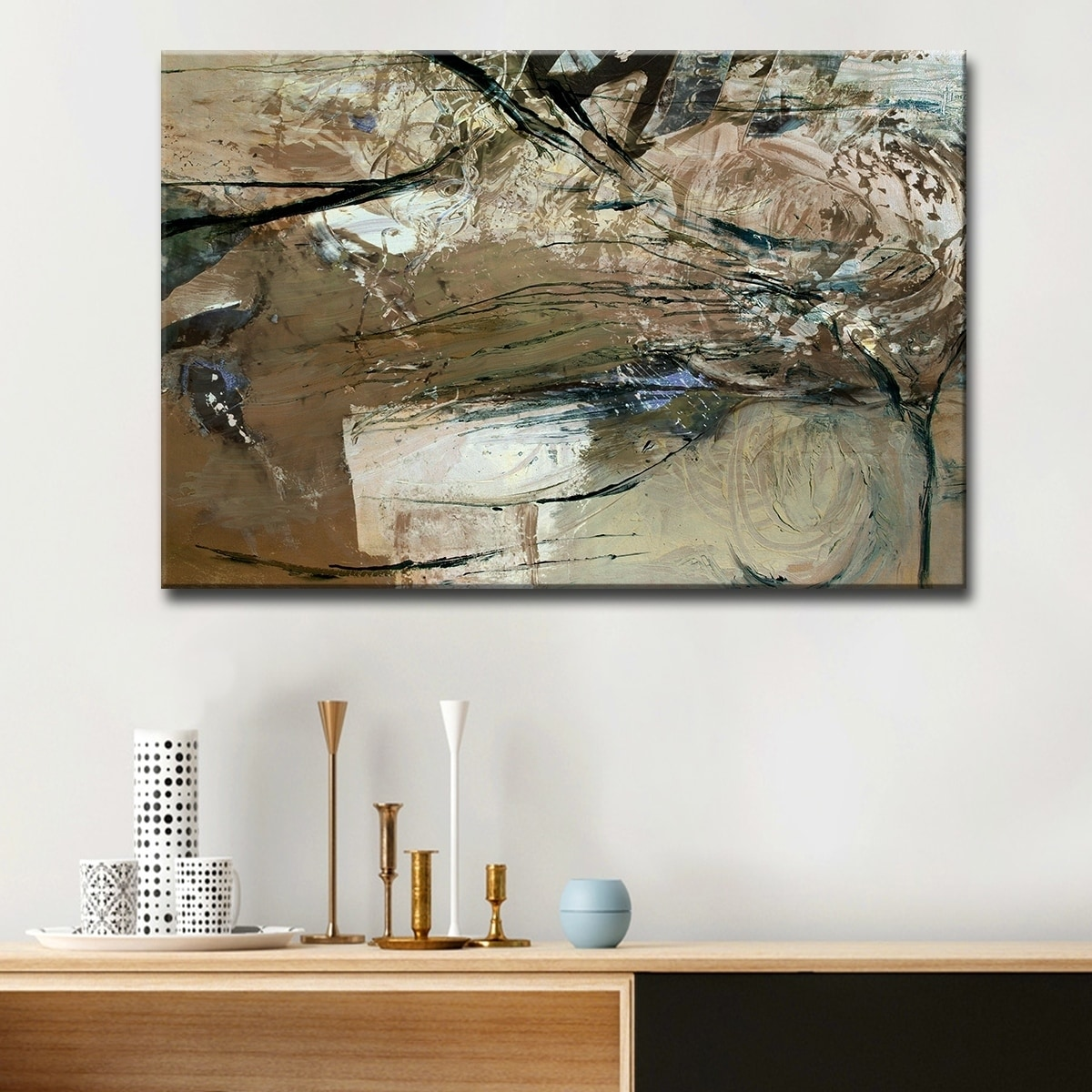 Shop ready2hangart smash xviii oversized canvas wall art brown on sale free shipping today overstock 8615193
