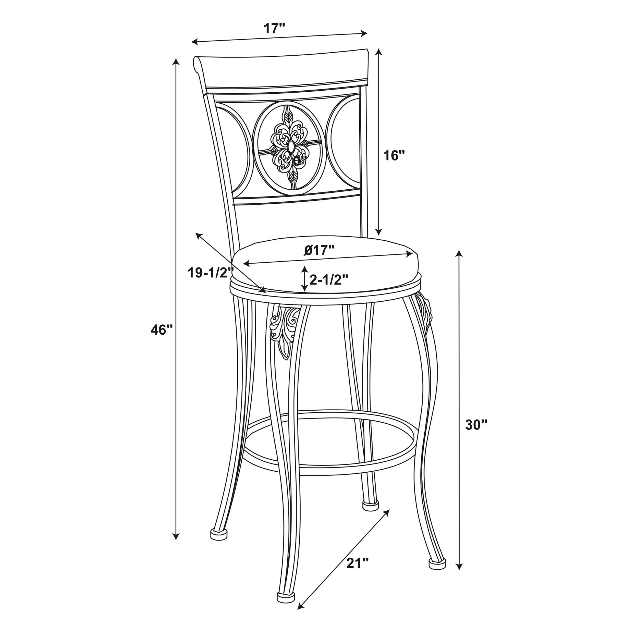 Linon Lily Flower Bar Stool Distressed Brown Pvc Free Shipping Today 15882429