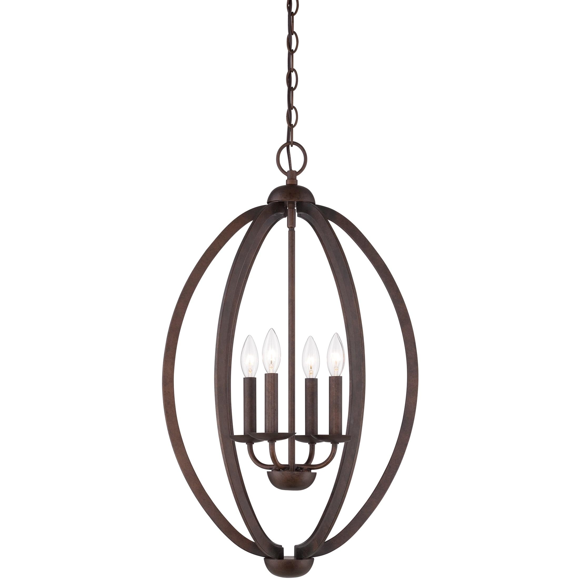 Quoizel Fixture 4 light Museum Bronze Cage Chandelier Free