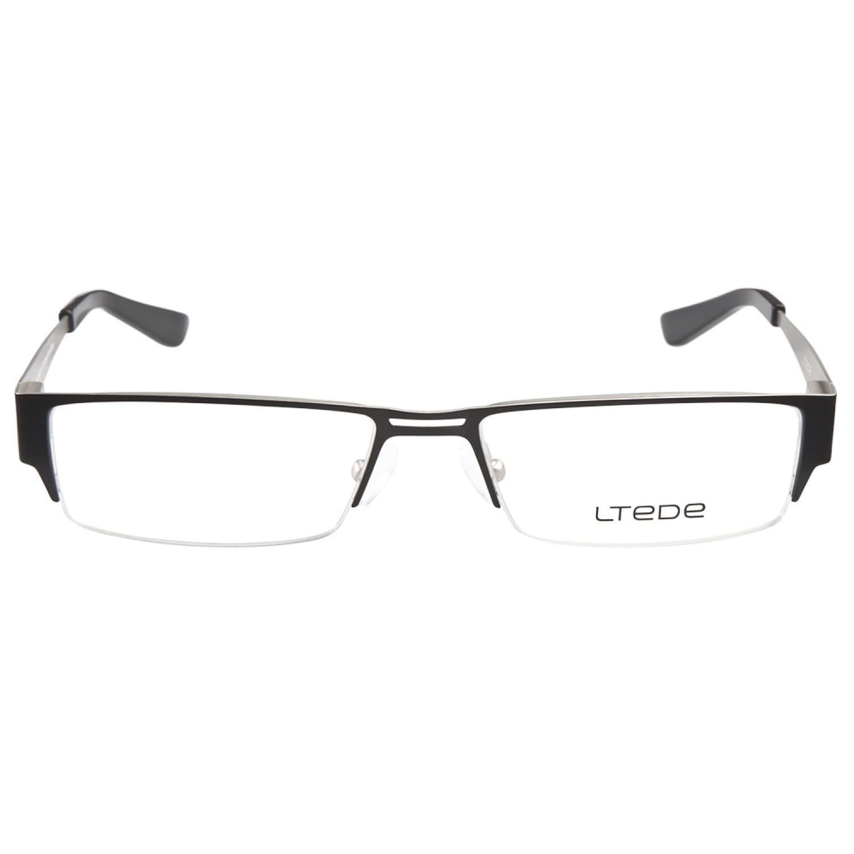 94a199bda8bf Shop Ltede 1047 Black Silver Prescription Eyeglasses - Free Shipping Today  - Overstock - 8616402