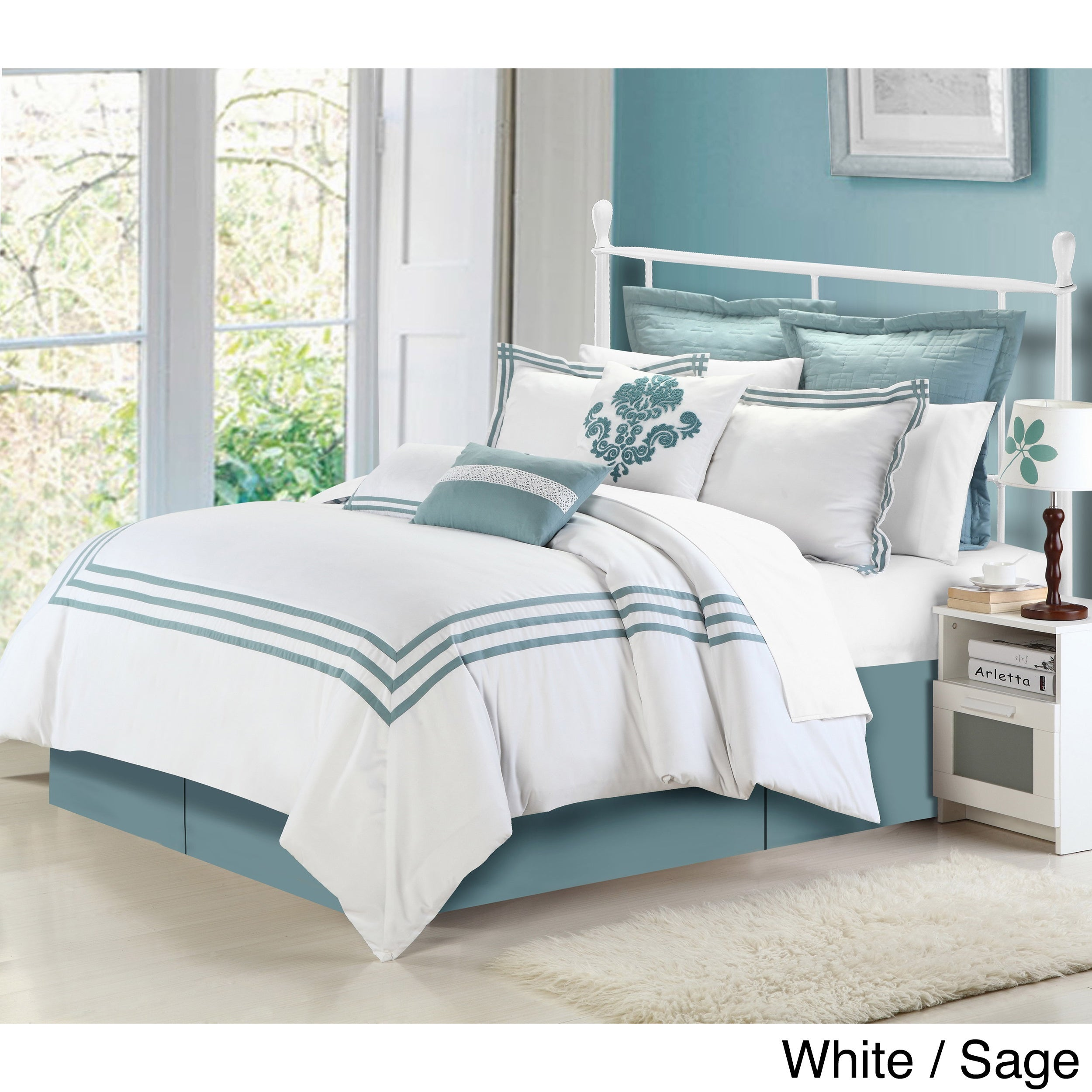 sets today overstock set capprice comforter hotel bedding piece free product bath shipping