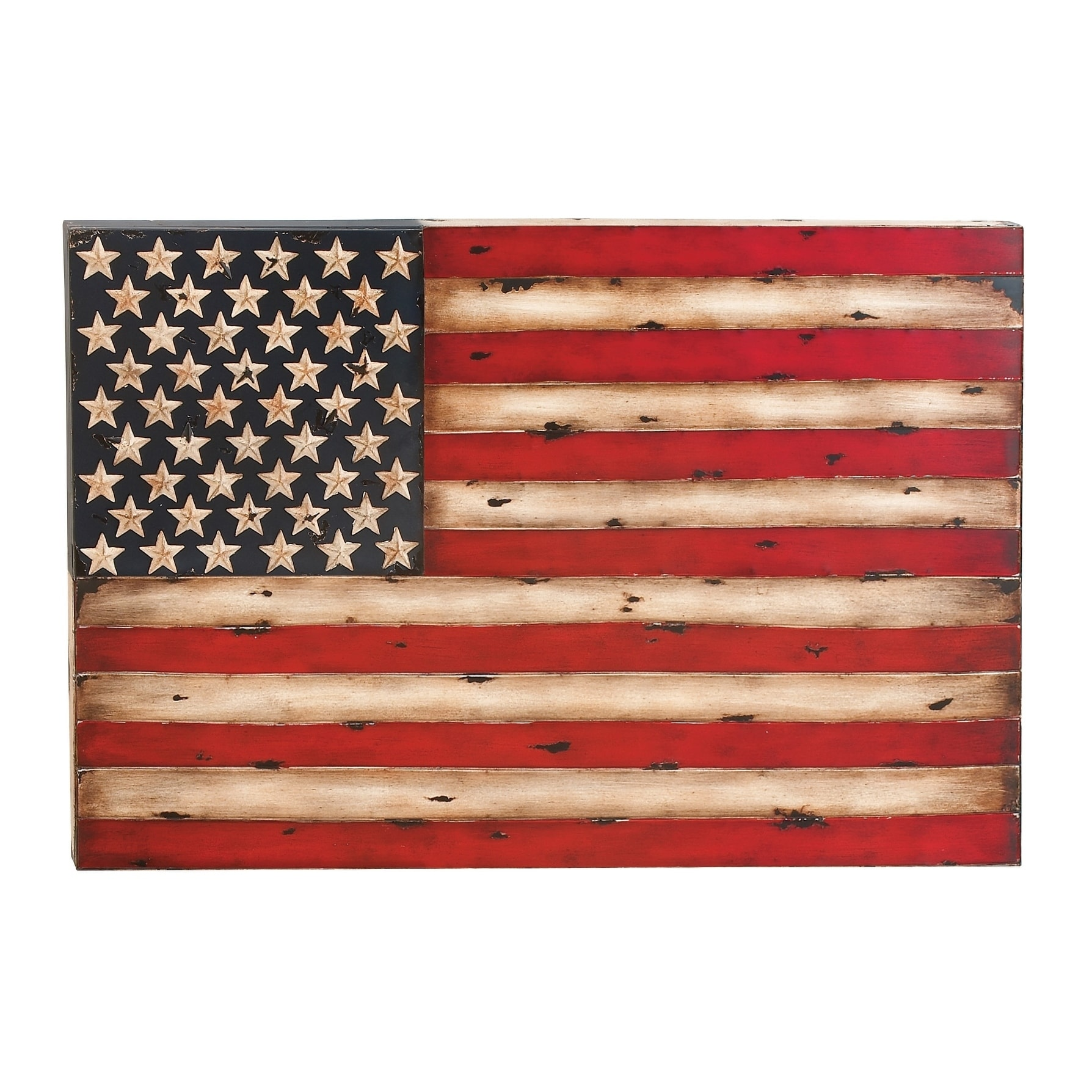 856ca93f92 Shop Eclectic 26 x 38 Inch American Flag Iron Wall Decor by Studio 350 - On  Sale - Free Shipping Today - Overstock - 8629245
