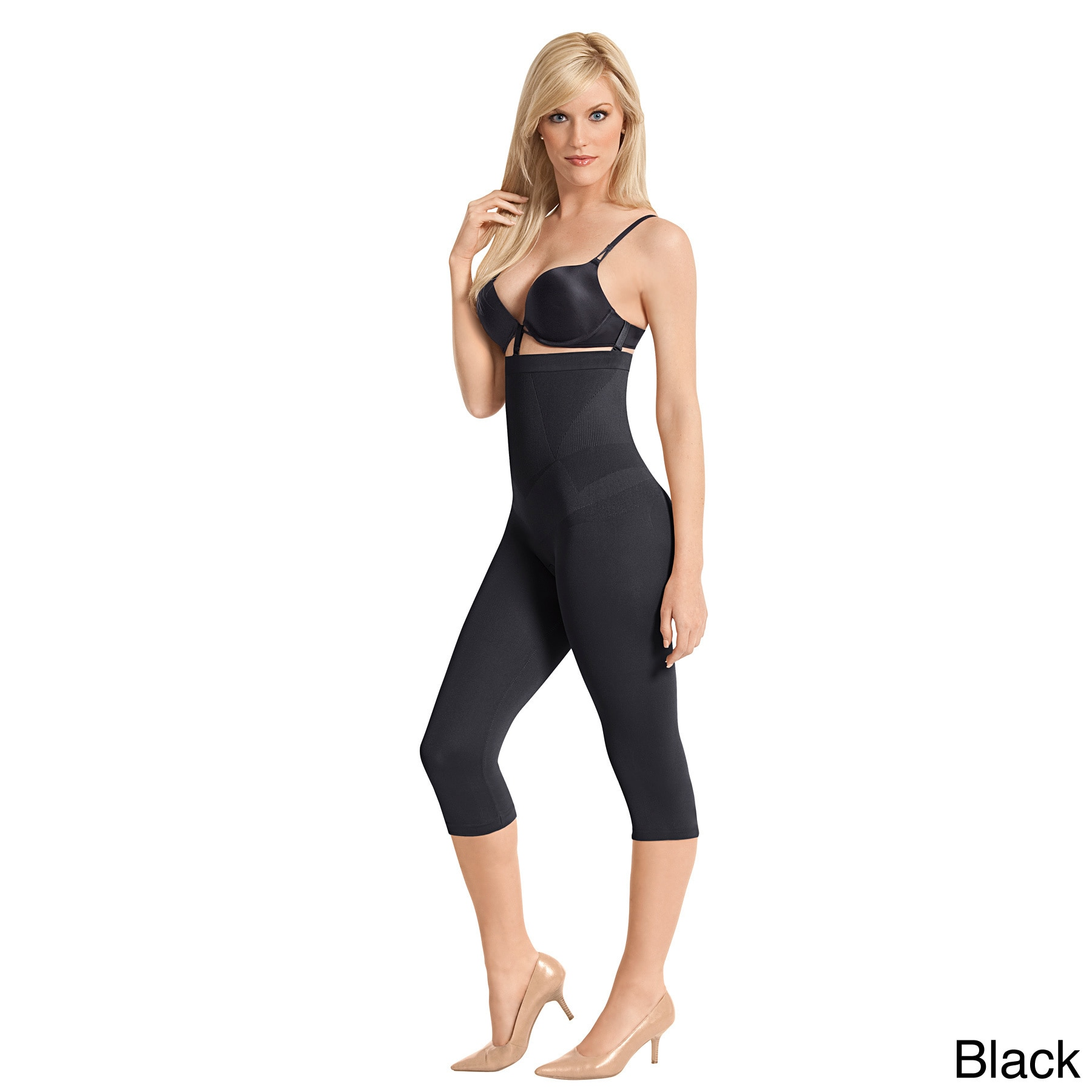 85fa929cf Shop Julie France by Euroskins Women s Body Shapers Cotton Spandex Regular  Firm Control High-waist Capri Shaper - Free Shipping On Orders Over  45 ...