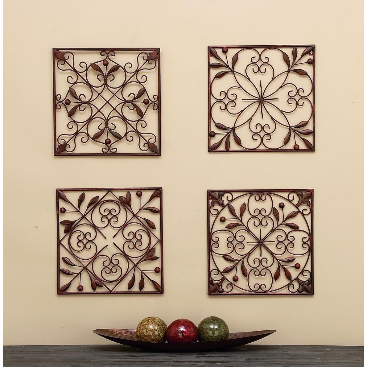 Square Metal Wall Decor Square Metal Wall Decor Set Of 4  Free Shipping Today