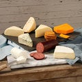 Eichten's Cheese Board Assortment with Sausage and Crackers