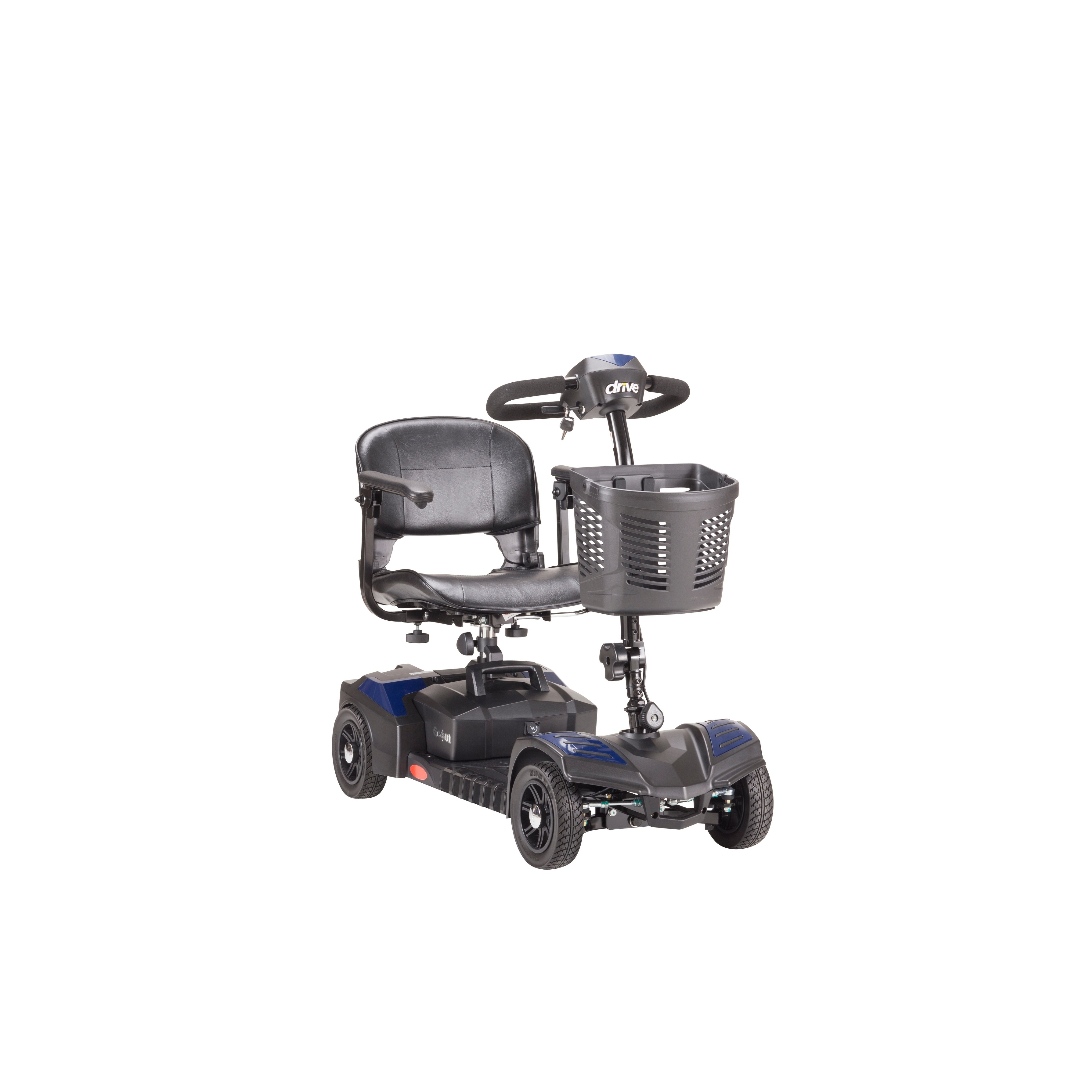 Drive Medical Scout Compact 4-wheel Travel Power Scooter - Red