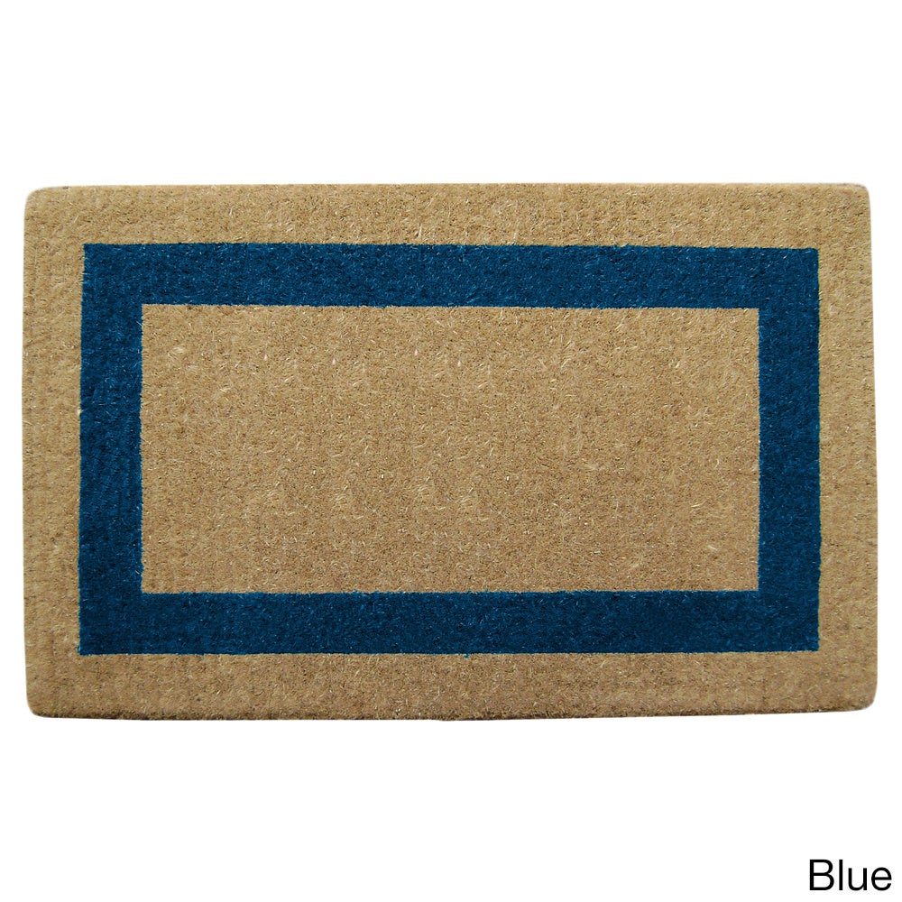 Shop Heavy Duty Coir Single PIcture Frame Doormat   On Sale   Free Shipping  Today   Overstock.com   8643028