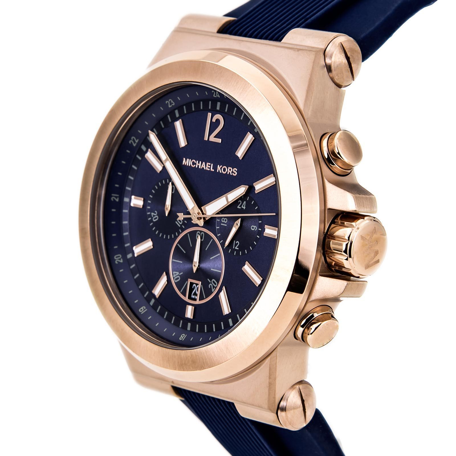 fa9790cc4287 Shop Michael Kors Men s MK8295  Dylan  Rose-tone Ion Plated Stainless Steel  Watch - Free Shipping Today - Overstock - 8643242