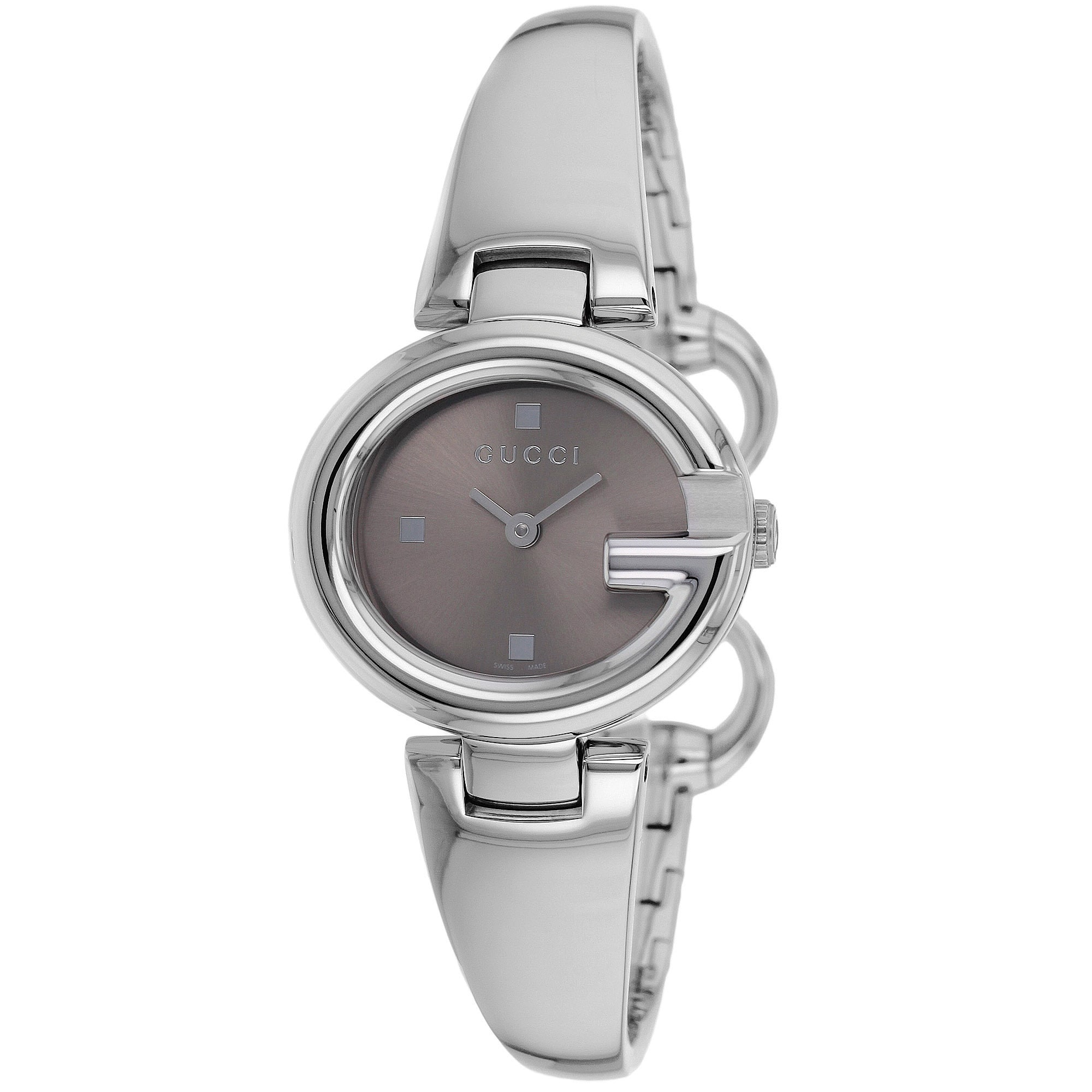 4ed399bd4fb Shop Gucci Women s YA134503  Guccissima  Brown Dial Stainless Steel Watch -  Free Shipping Today - Overstock - 8643246