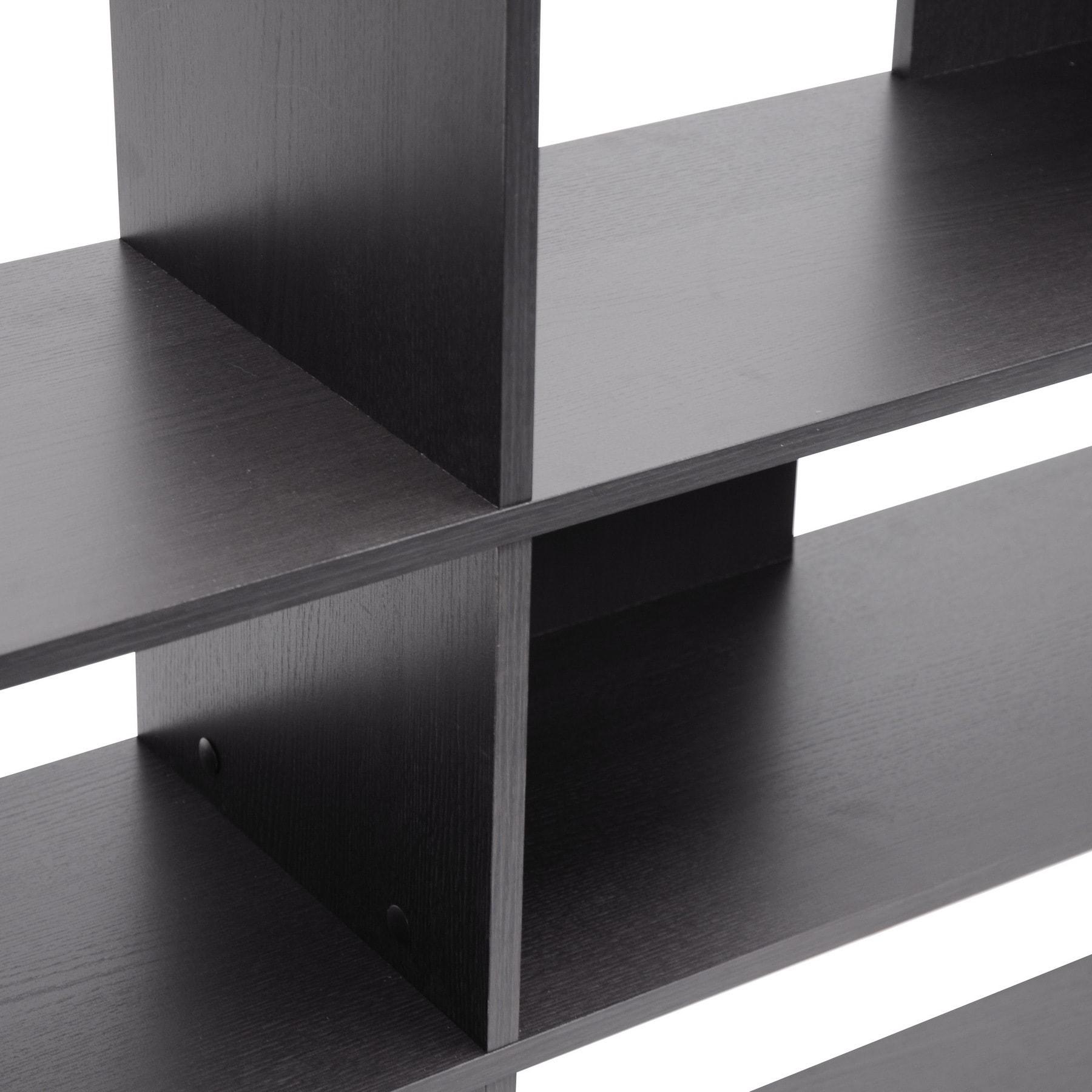 Shop Baxton Studio Lanahan Espresso 3 Level Modern Display Shelf   Free  Shipping Today   Overstock.com   8646486