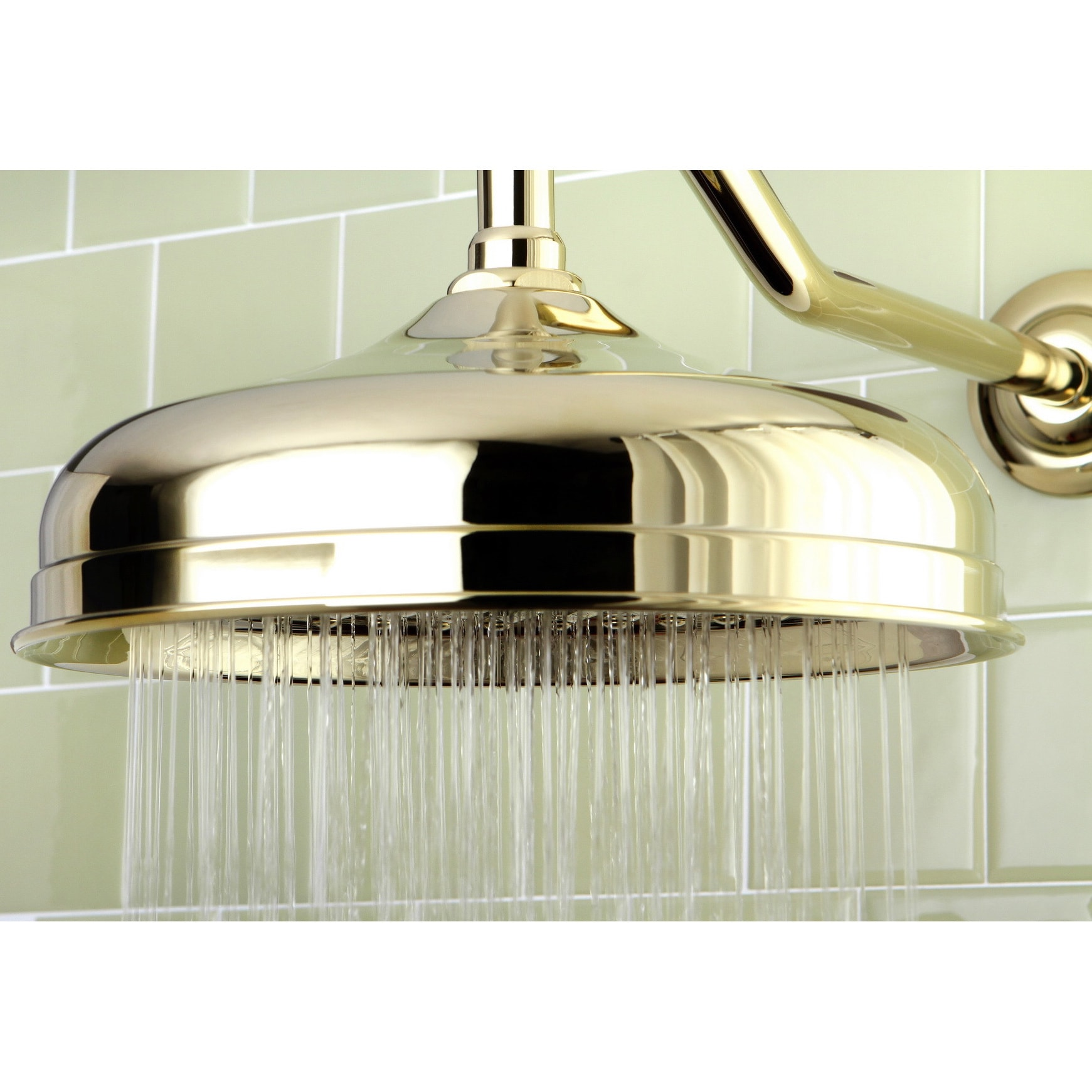 Shop Victorian Polished Brass 10 Inch Raindrop Showerhead   Free Shipping  Today   Overstock.com   8650096