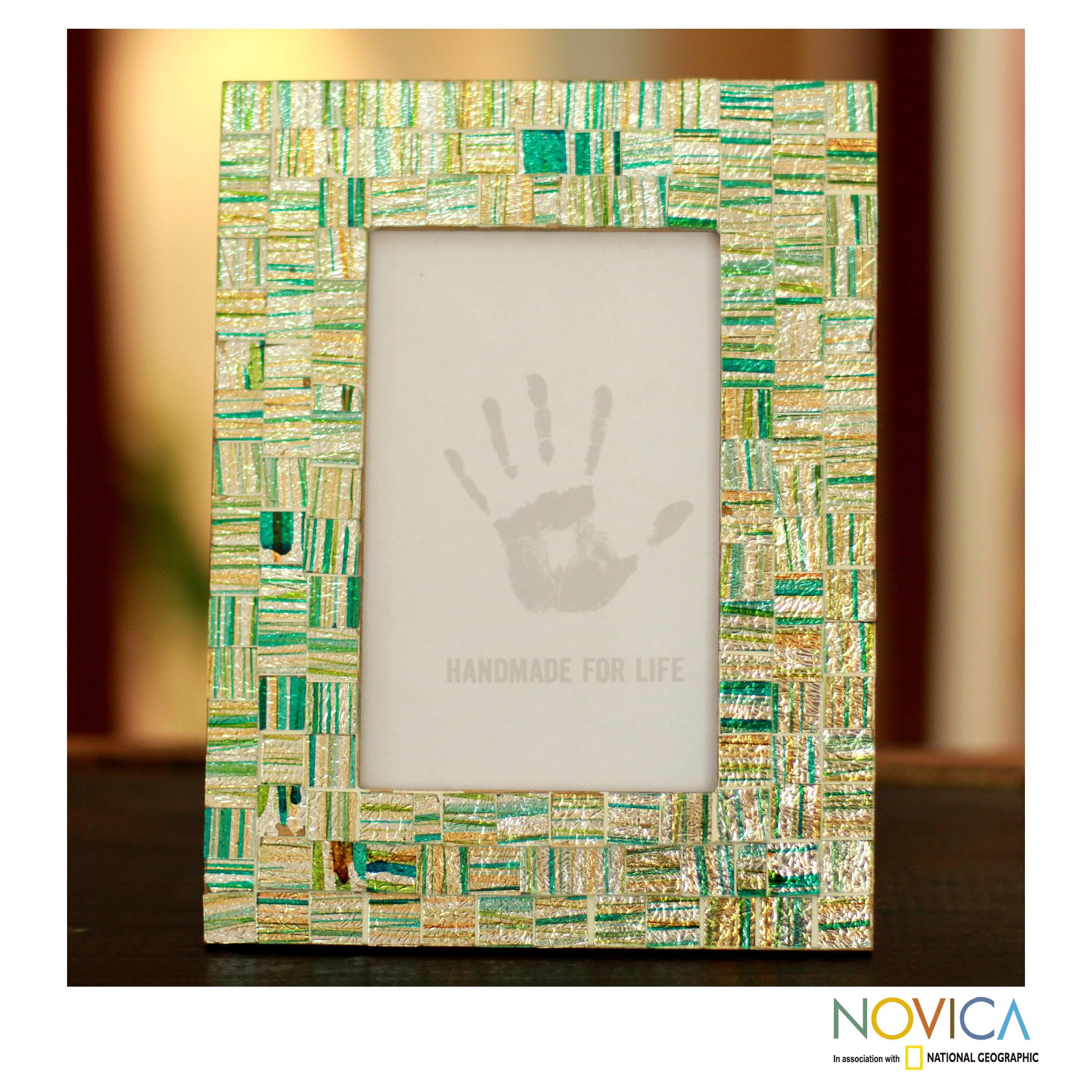 Shop Handcrafted Glass Mosaic \'Summer Memories\' Photo Frame ...