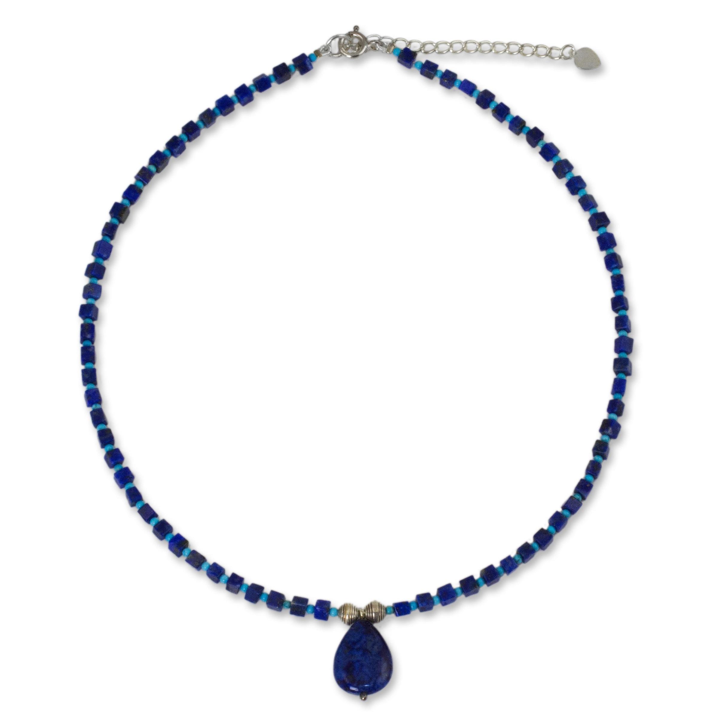 Crystal necklace 25/% OFF Long Beaded Lapis Lazuli necklace Lapis Lazuli Lapis Lazuli necklace