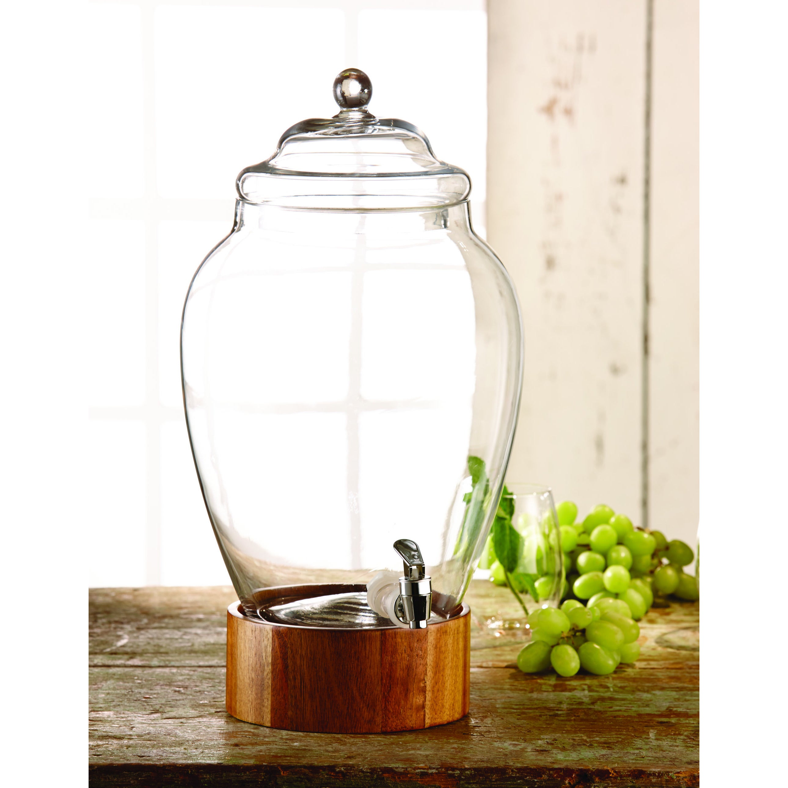 Madera 3gallon Glass Beverage Dispenser Free Shipping Today