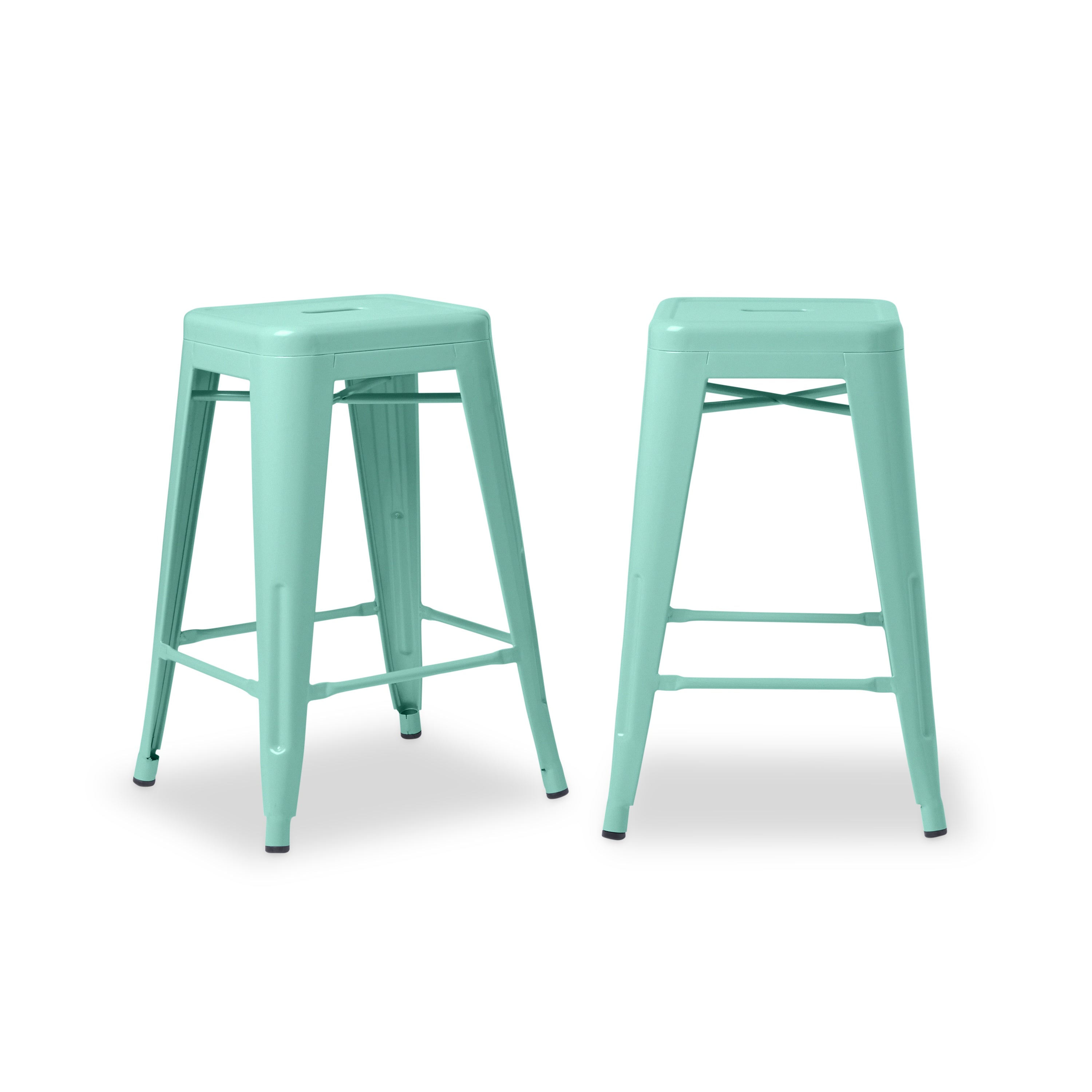 Tabouret 24-inch Hint of Mint Counter Stools (Set of 2) - Free ...