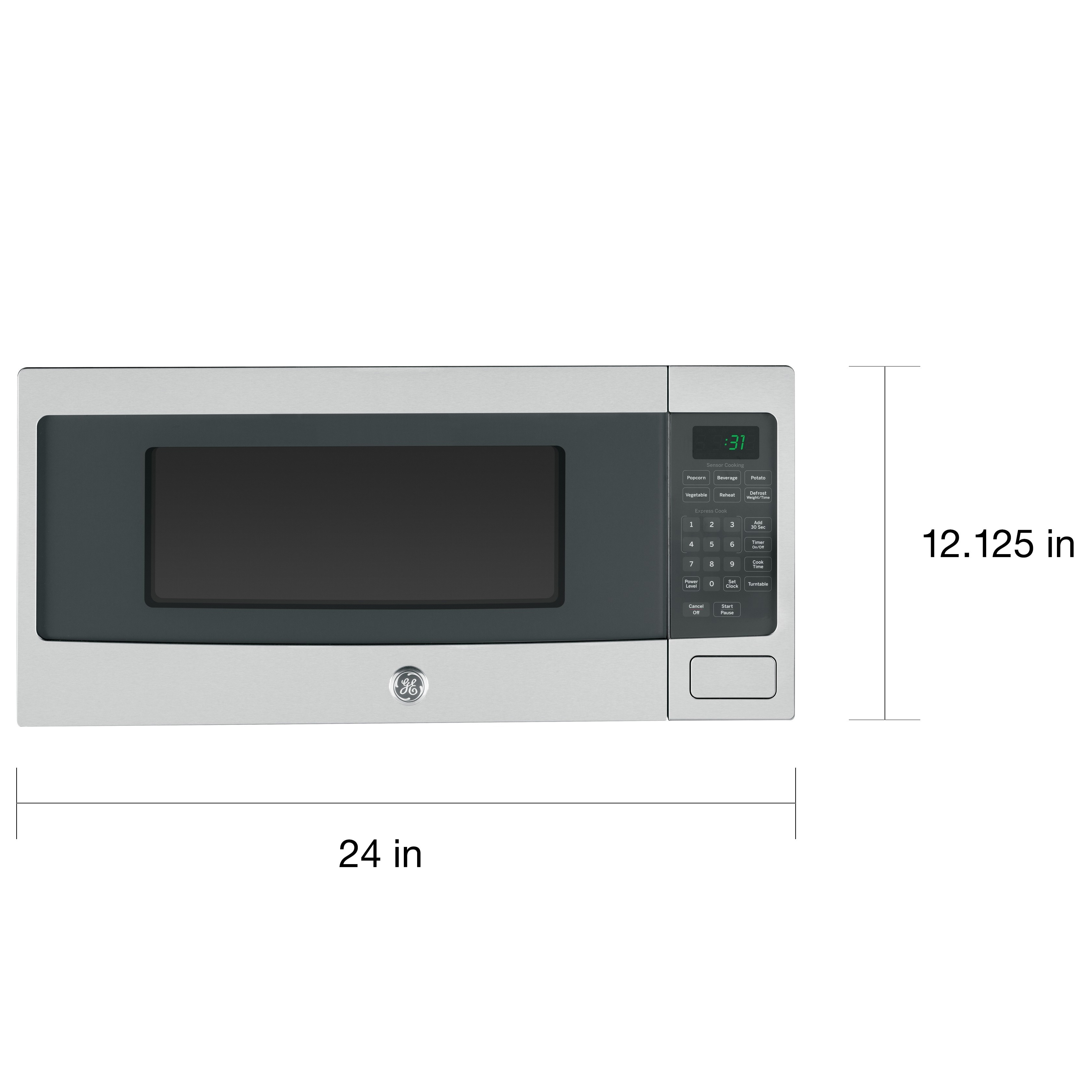 Ge Profile Pem31sfss Stainless Steel Countertop Microwave Oven Free Shipping Today 15920653