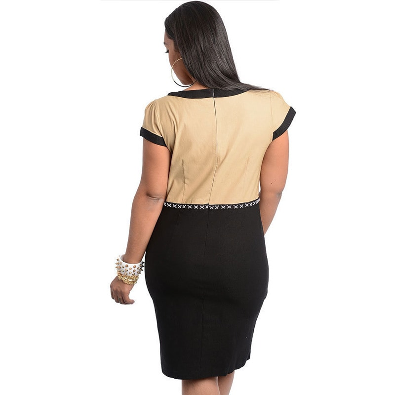 a68d1a93835 Shop Stanzino Women s Plus Size Two-tone Knee Length Casual Dress - Free  Shipping On Orders Over  45 - Overstock - 8662208
