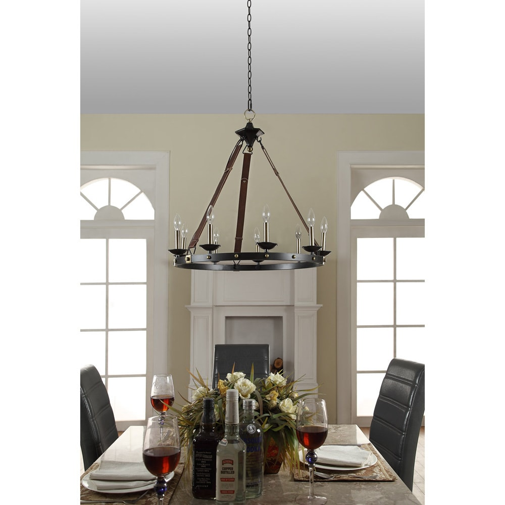 black chandelier lighting farmhouse shop cavalier 9light black chandelier free shipping today overstockcom 8662821